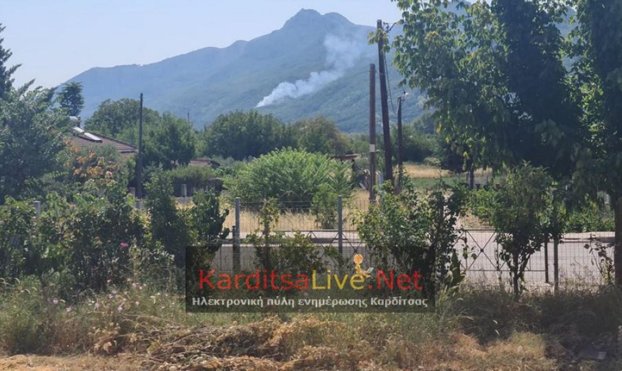 Καρδίτσα: Φωτιά στο Μαυρομμάτι – Σε δύσβατο σημείο