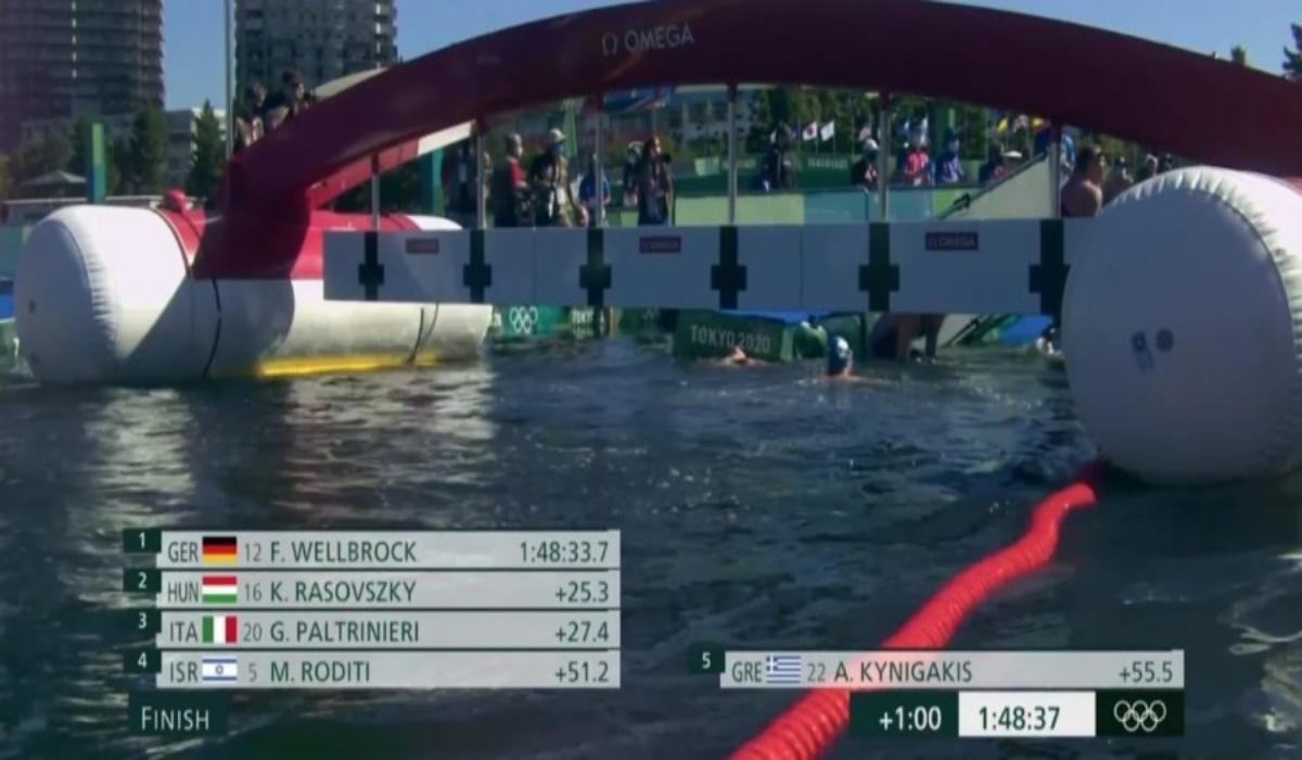 Ο Άλκης Κυνηγάκης πέμπτος ολυμπιονίκης στα 10 χιλιόμετρα μαραθώνιας κολύμβησης στους Ολυμπιακούς Αγώνες