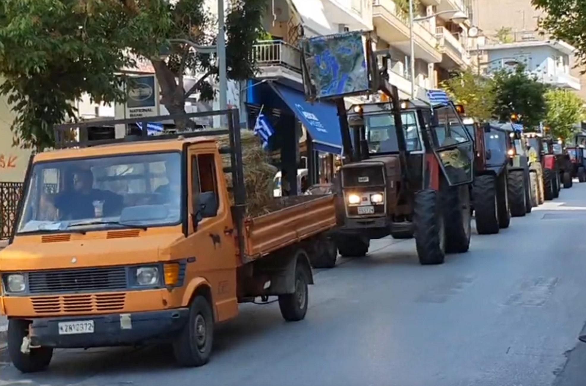 Κοζάνη: Με τα τρακτέρ στο κέντρο της πόλης – Διαμαρτυρία από αγρότες και κτηνοτρόφους
