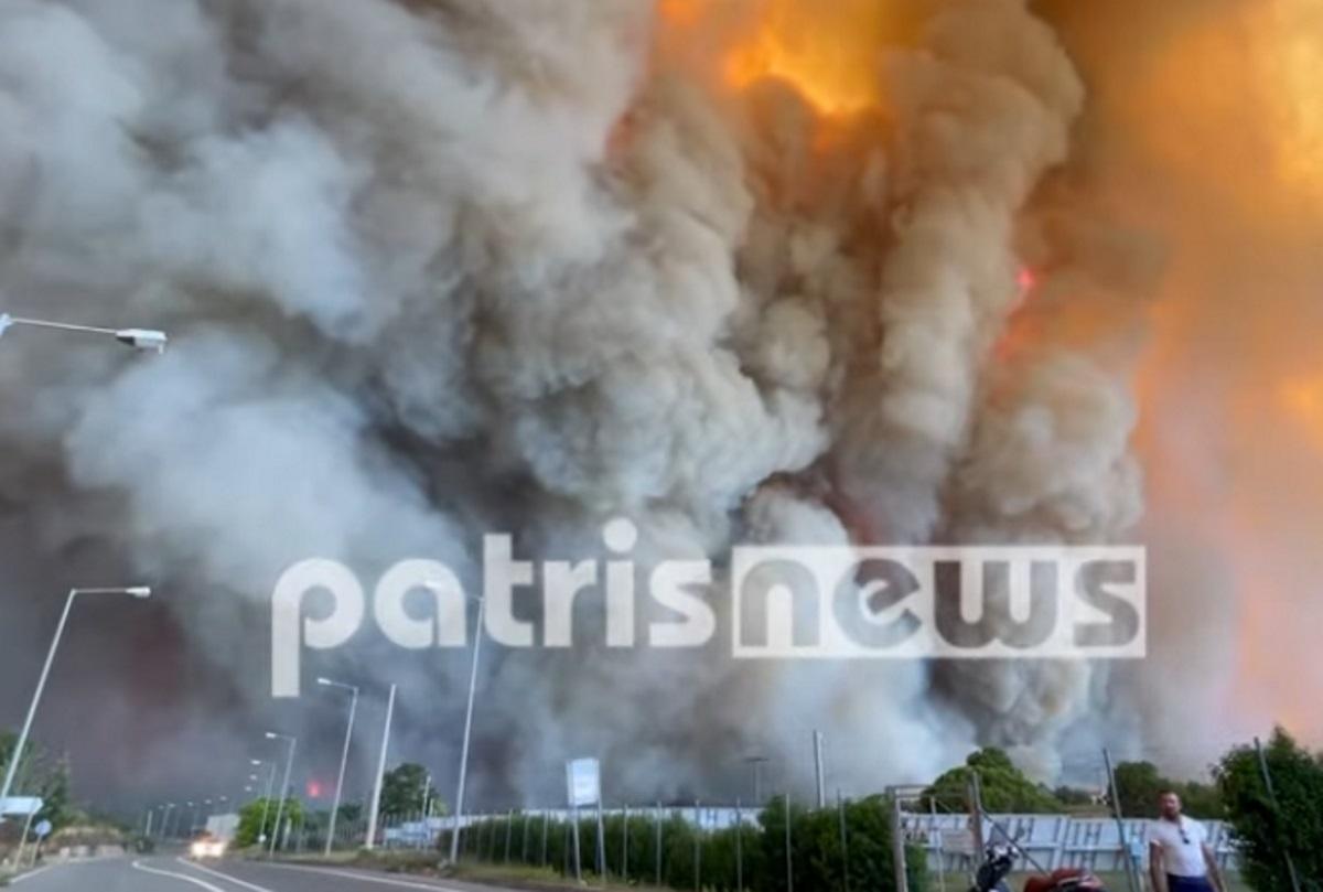 Ηλεία: Σε Λάλα και Χελιδόνι τα μεγαλύτερα πύρινα μέτωπα – Ανησυχία για κατοίκους που αρνούνται να φύγουν