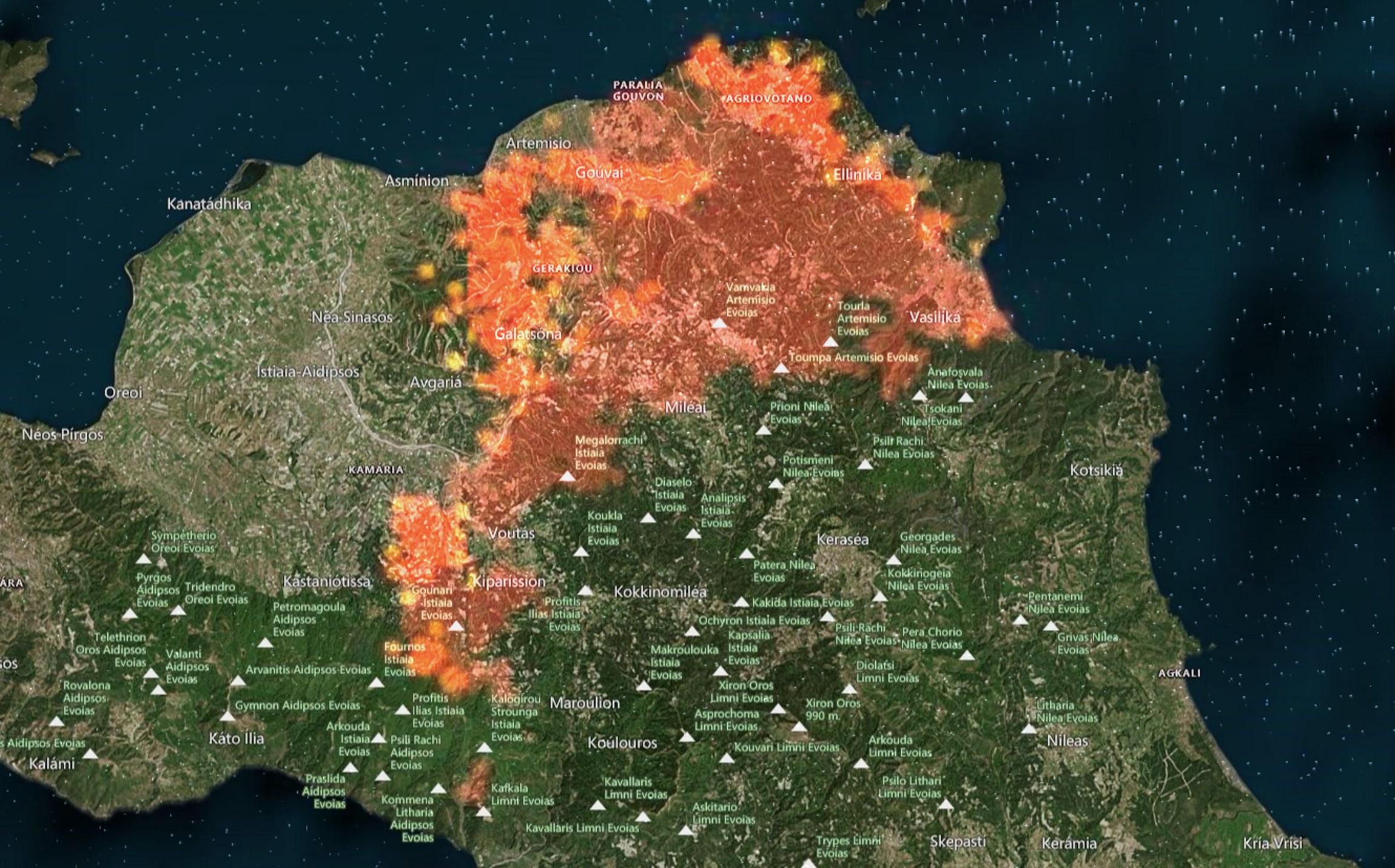 Φωτιές: Ήδη «στάχτη» 930.000 στρέμματα και είμαστε τρίτοι στη Μεσόγειο – LIVE χάρτης με τις πυρκαγιές