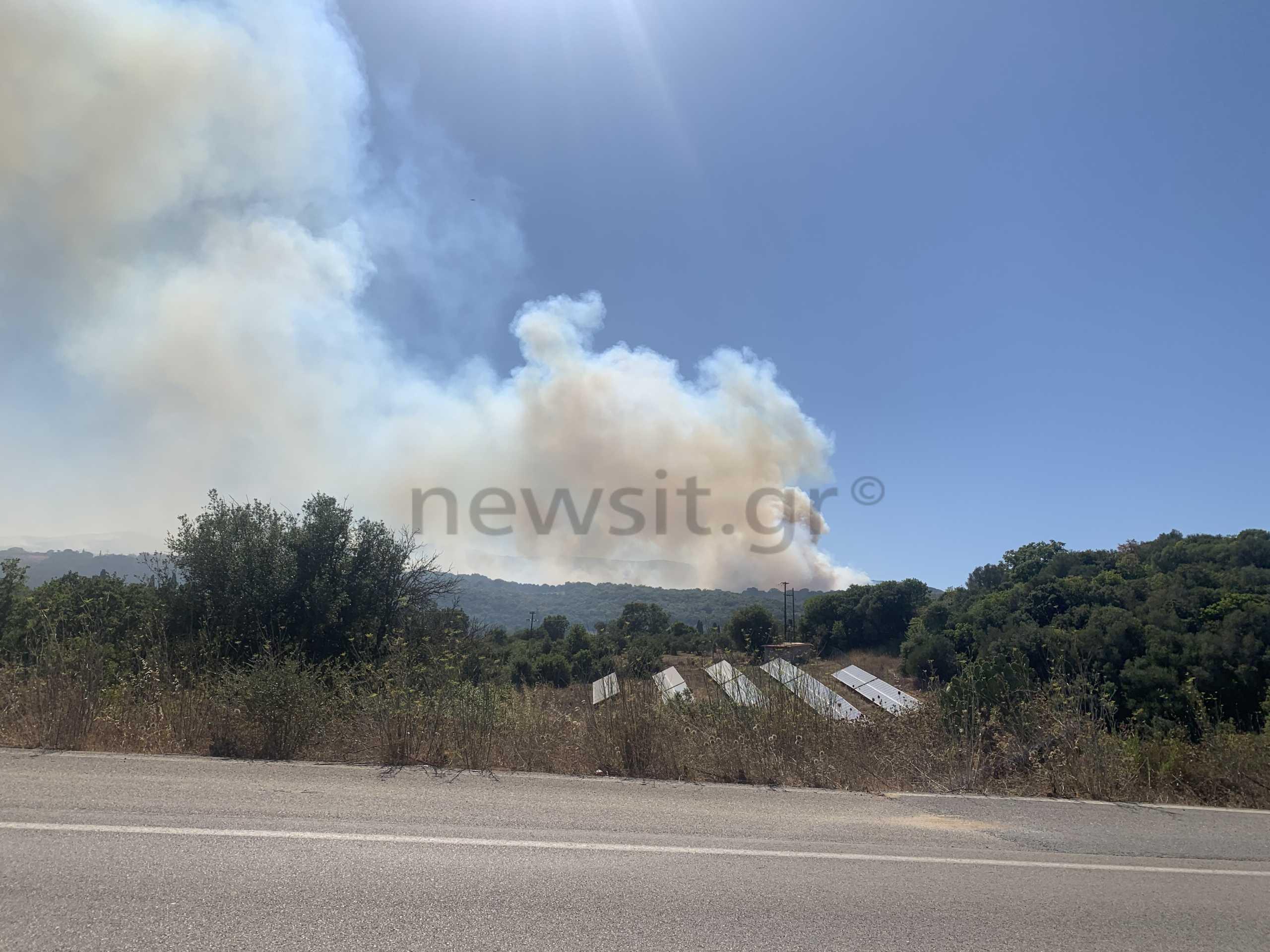 Φωτιά στη Μεσσηνία: Έκλεισε ο αυτοκινητόδρομος Κορίνθου-Τρίπολης-Καλαμάτας