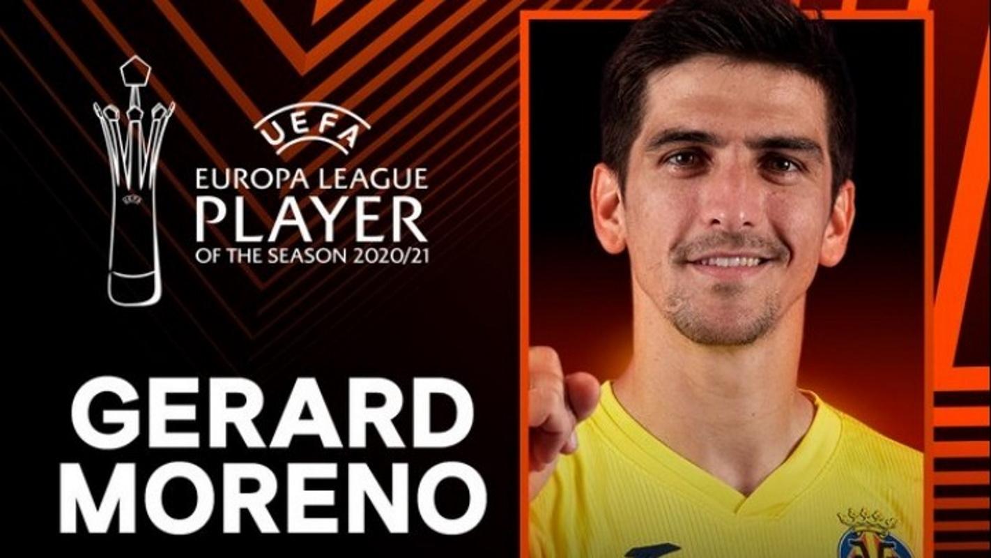Europa League: Ο Ζεράρ Μορένο κορυφαίος παίκτης της σεζόν 2020-21