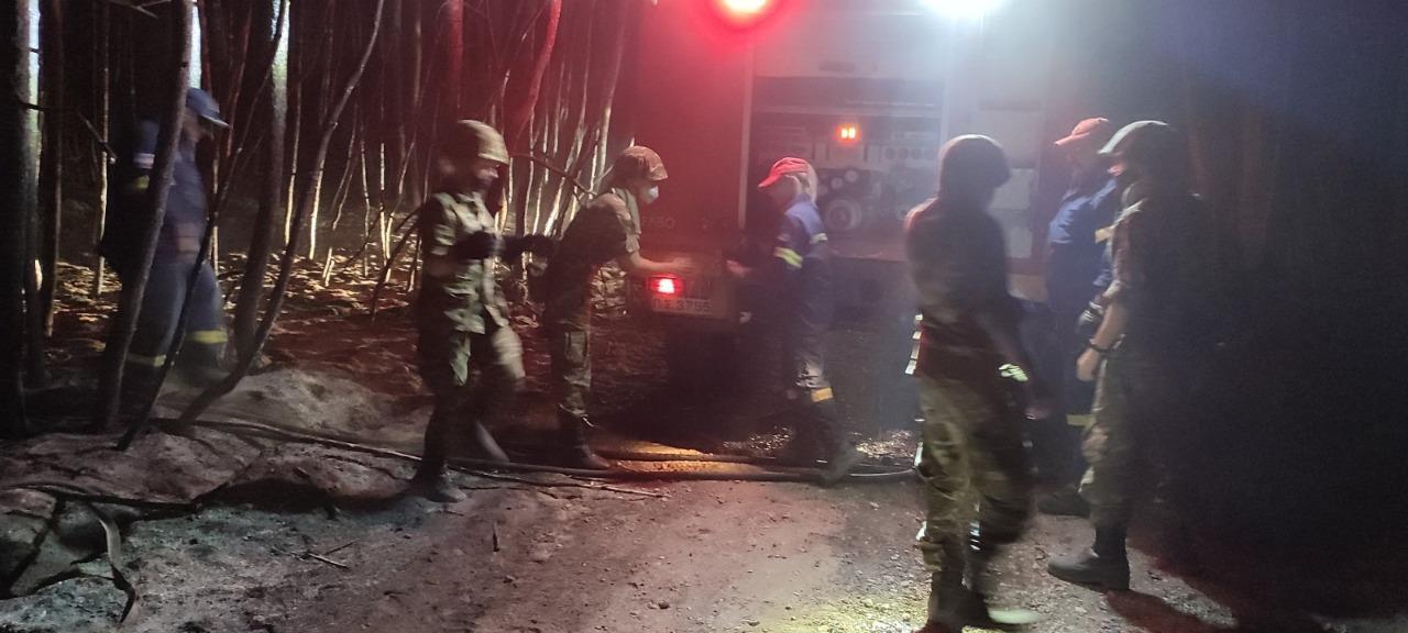 Ένοπλες Δυνάμεις: Αποκαλυπτικά πλάνα από νυχτερινή μάχη με τις φλόγες [pics,vids]