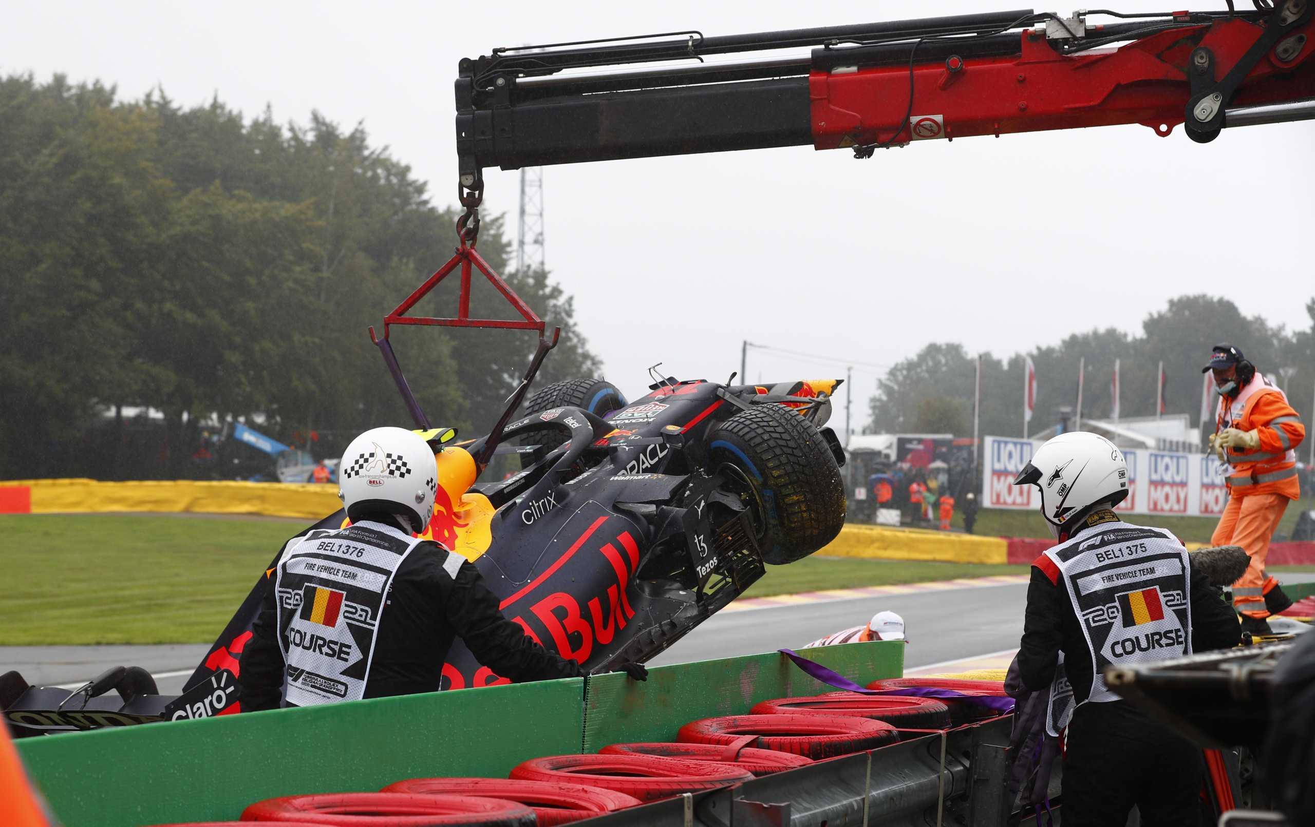 Formula 1: Ο Πέρεζ έμεινε εκτός GP Βελγίου, έχασε τον έλεγχο στον αναγνωριστικό γύρο