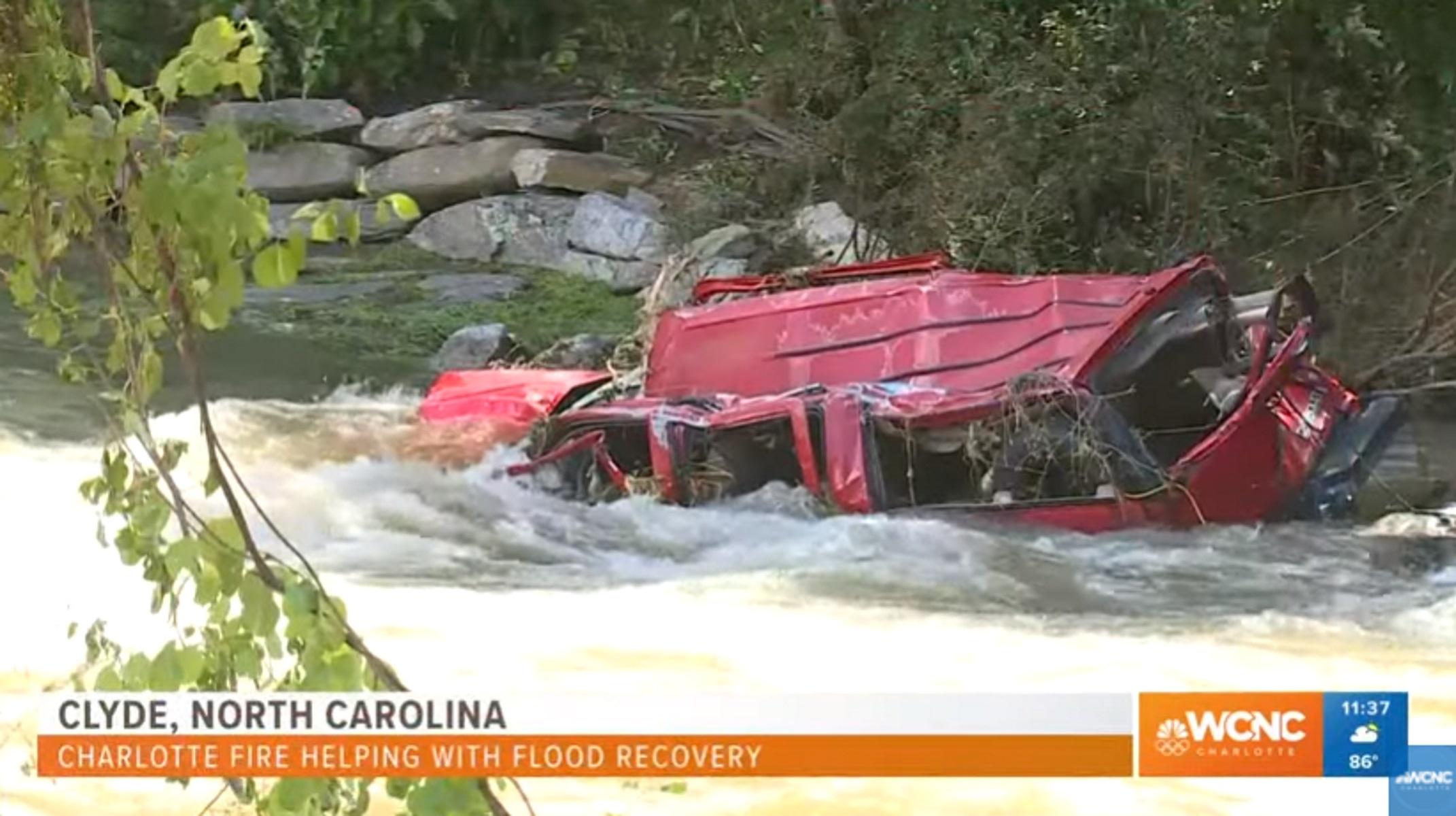 Τουλάχιστον 2 νεκροί και 20 αγνοούμενοι από τις πλημμύρες στις Βόρεια Καρολίνα