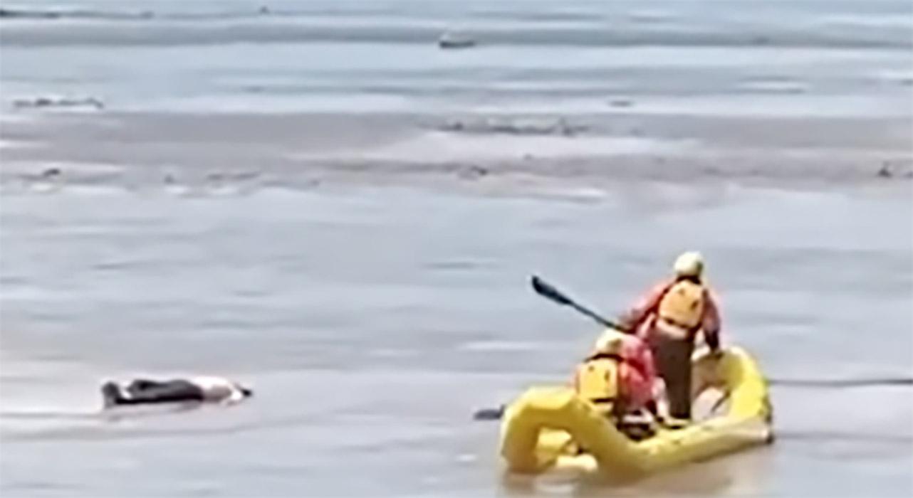 Η επιχείριση διάσωσης του νεκρού σε ποτάμι δεν πήγε όπως φαντάζονταν