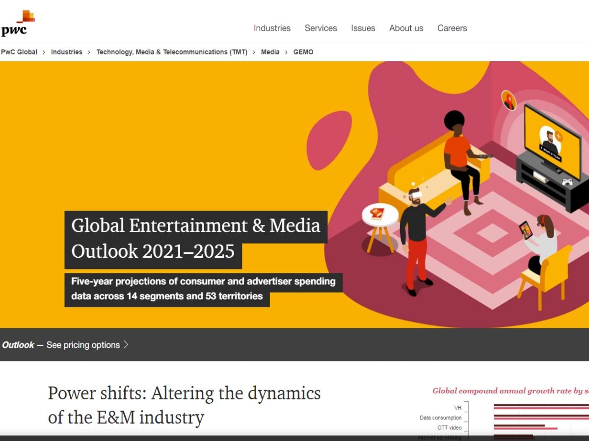 «Έκρηξη» εσόδων από τον κλάδο Ψυχαγωγίας και ΜΜΕ: Έρευνα της PwC