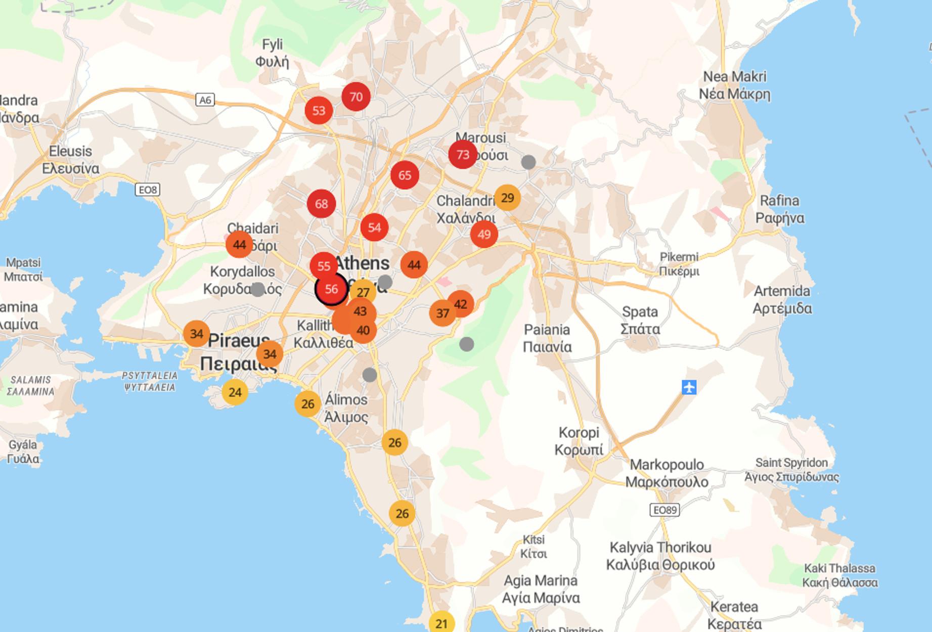 Φωτιά στην Βαρυμπόμπη: Άκρως επικίνδυνος ο αέρας στην Αθήνα