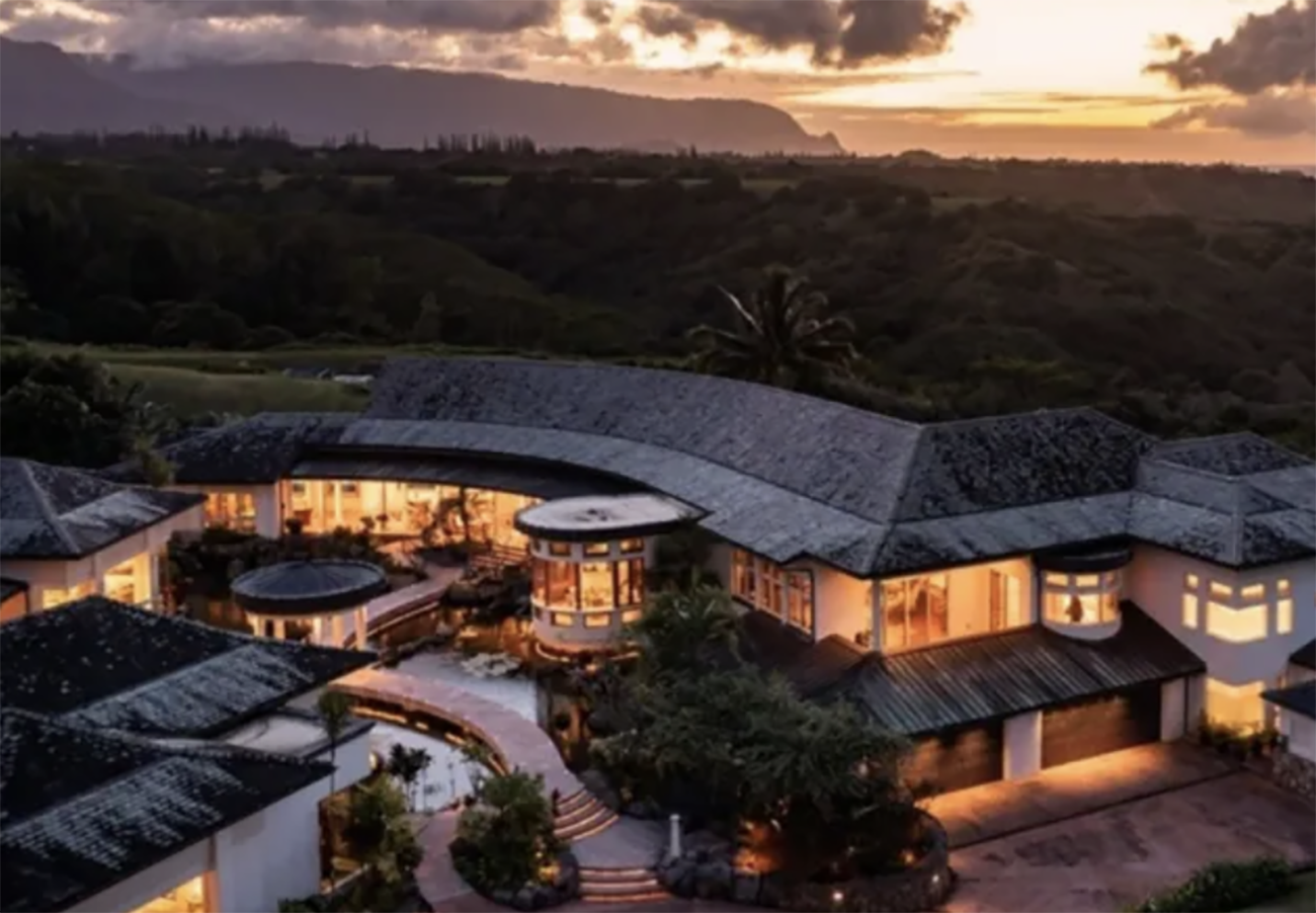Ένα απίστευτο σπίτι στην Χαβάη με γκαράζ για 22 αυτοκίνητα