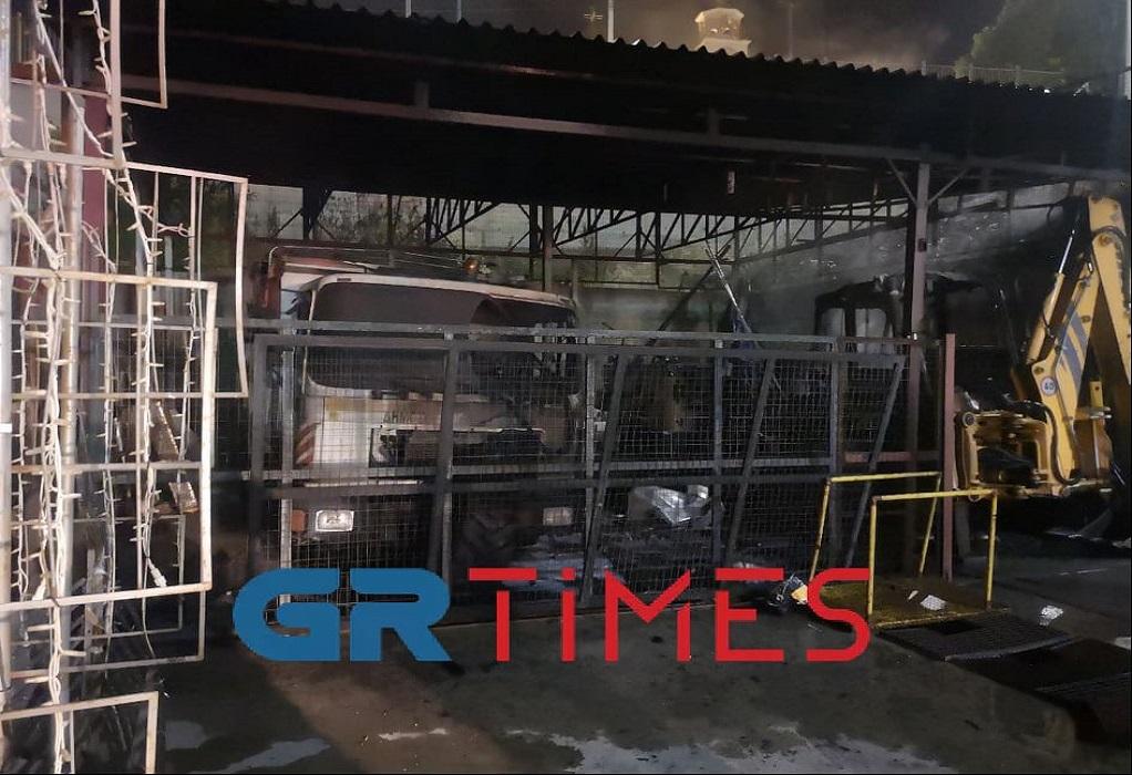 Θεσσαλονίκη: Φωτιά και εκρήξεις σε εργοστάσιο του Δήμου Νεάπολης