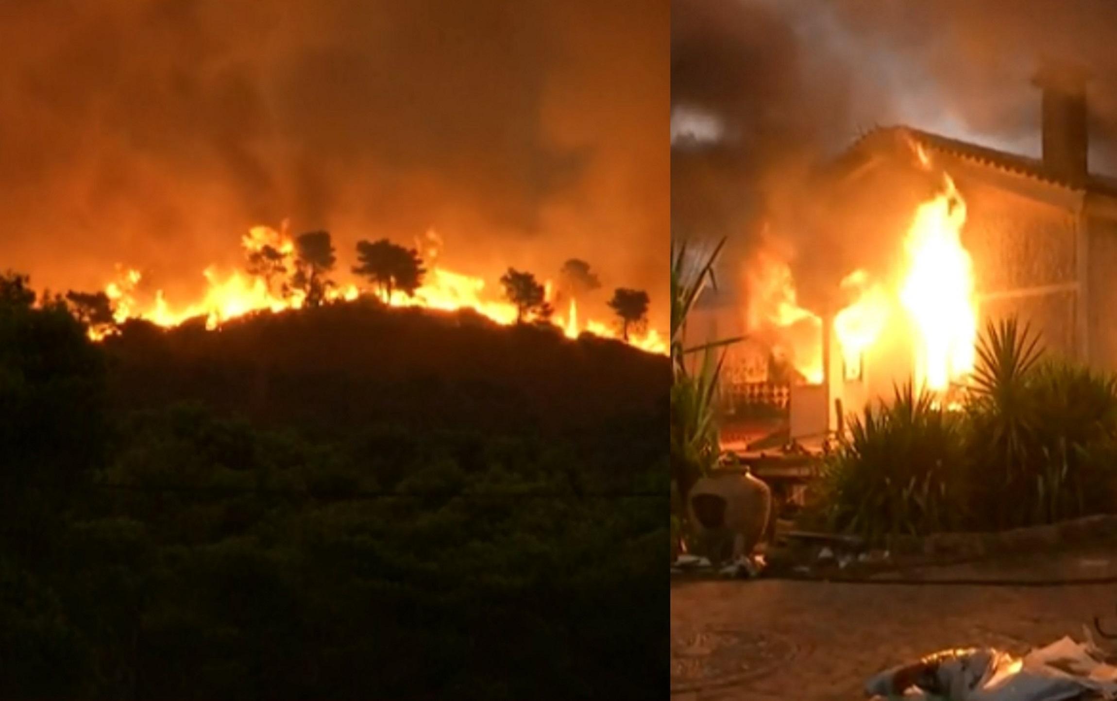 Φωτιά στη Βαρυμπόμπη: Δύσκολη η κατάσταση στους Θρακομακεδόνες – Ισχυρό το πύρινο μέτωπο