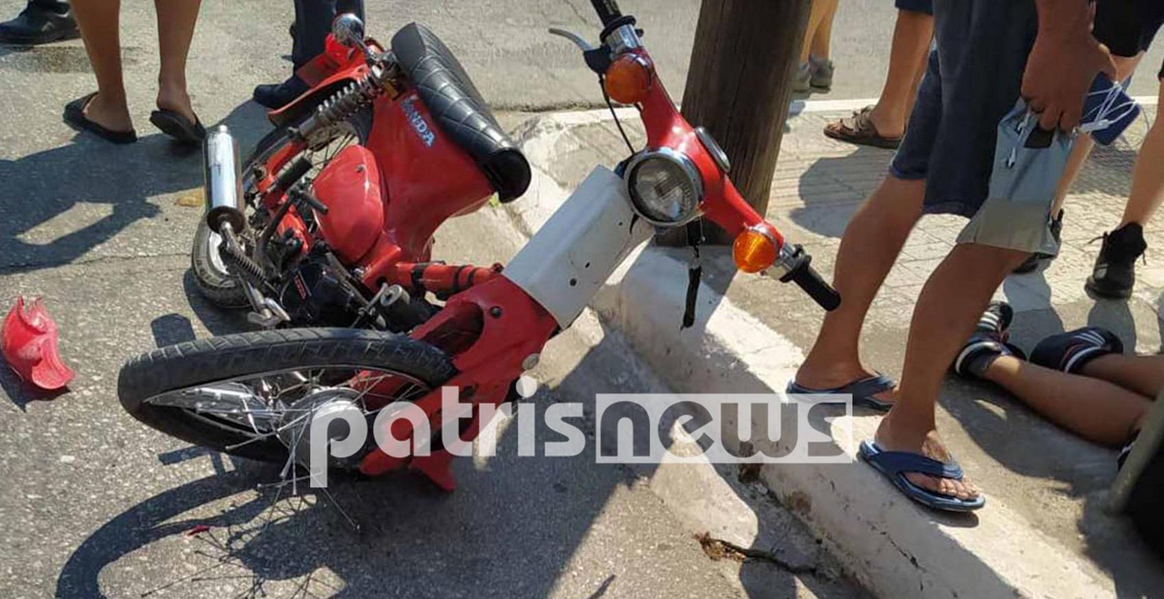 Ανδραβίδα: Αυτοκίνητο παραβίασε STOP και συγκρούστηκε με μηχανανάκι – Τραυματίστηκε ο δικυκλιστής