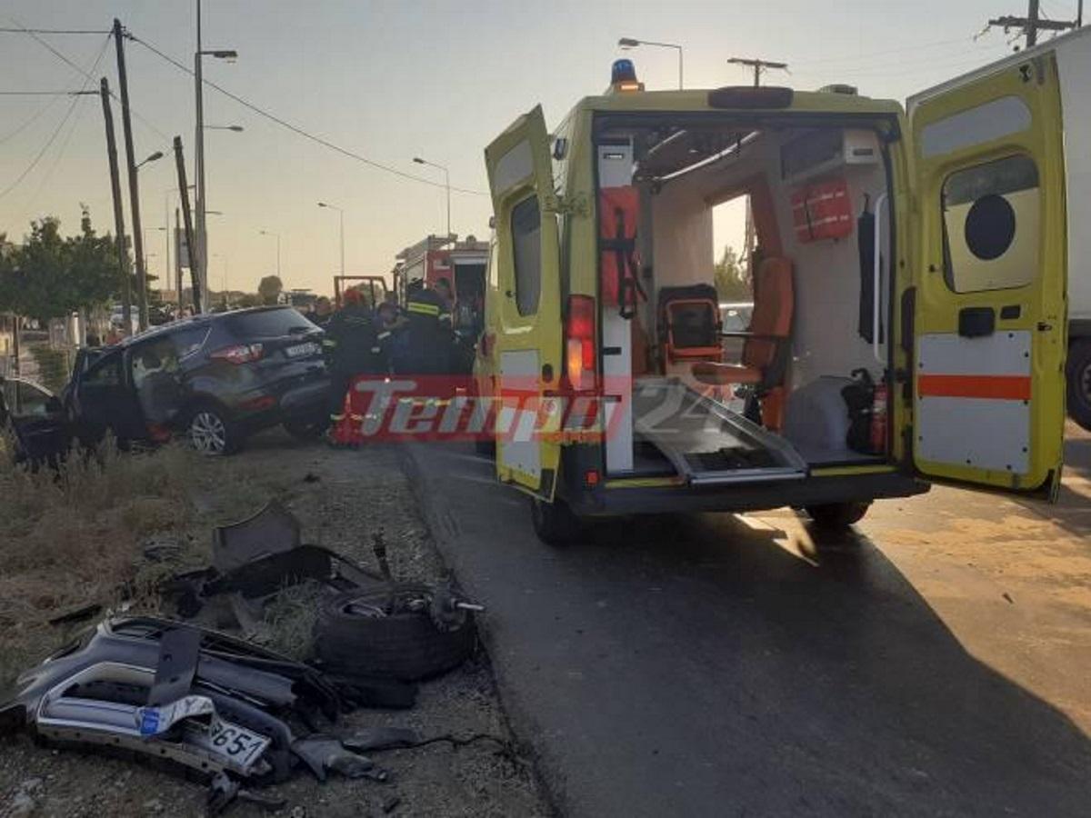 Σοβαρό τροχαίο στην Πατρών – Πύργου: Μετωπική σύγκρουση αυτοκινήτων με ένα σοβαρά τραυματία