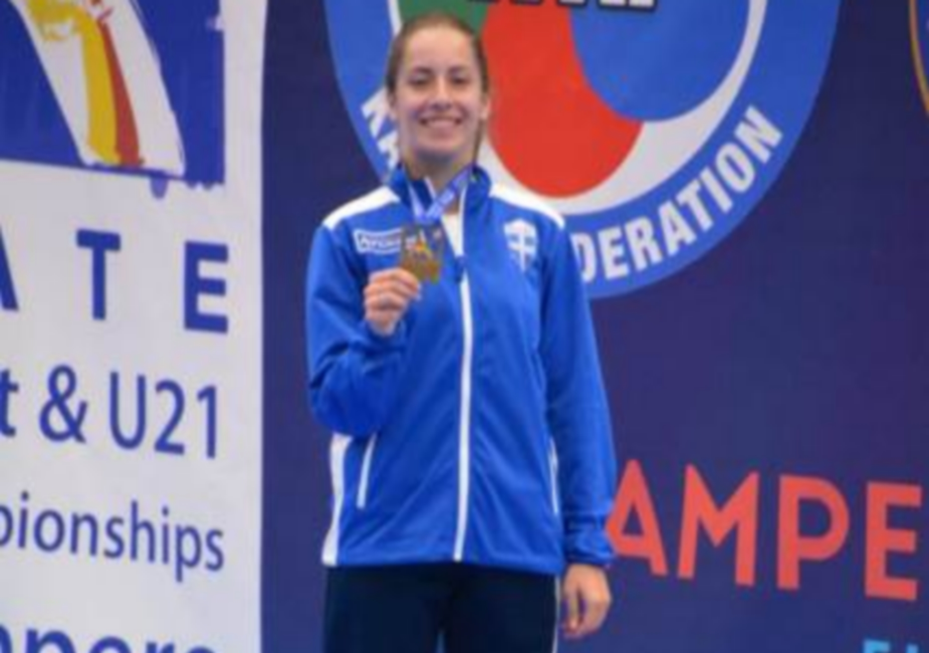 Χάλκινο μετάλλιο για τη Στελίνα Τζίλια στο Ευρωπαϊκό Νεανίδων στο Καράτε