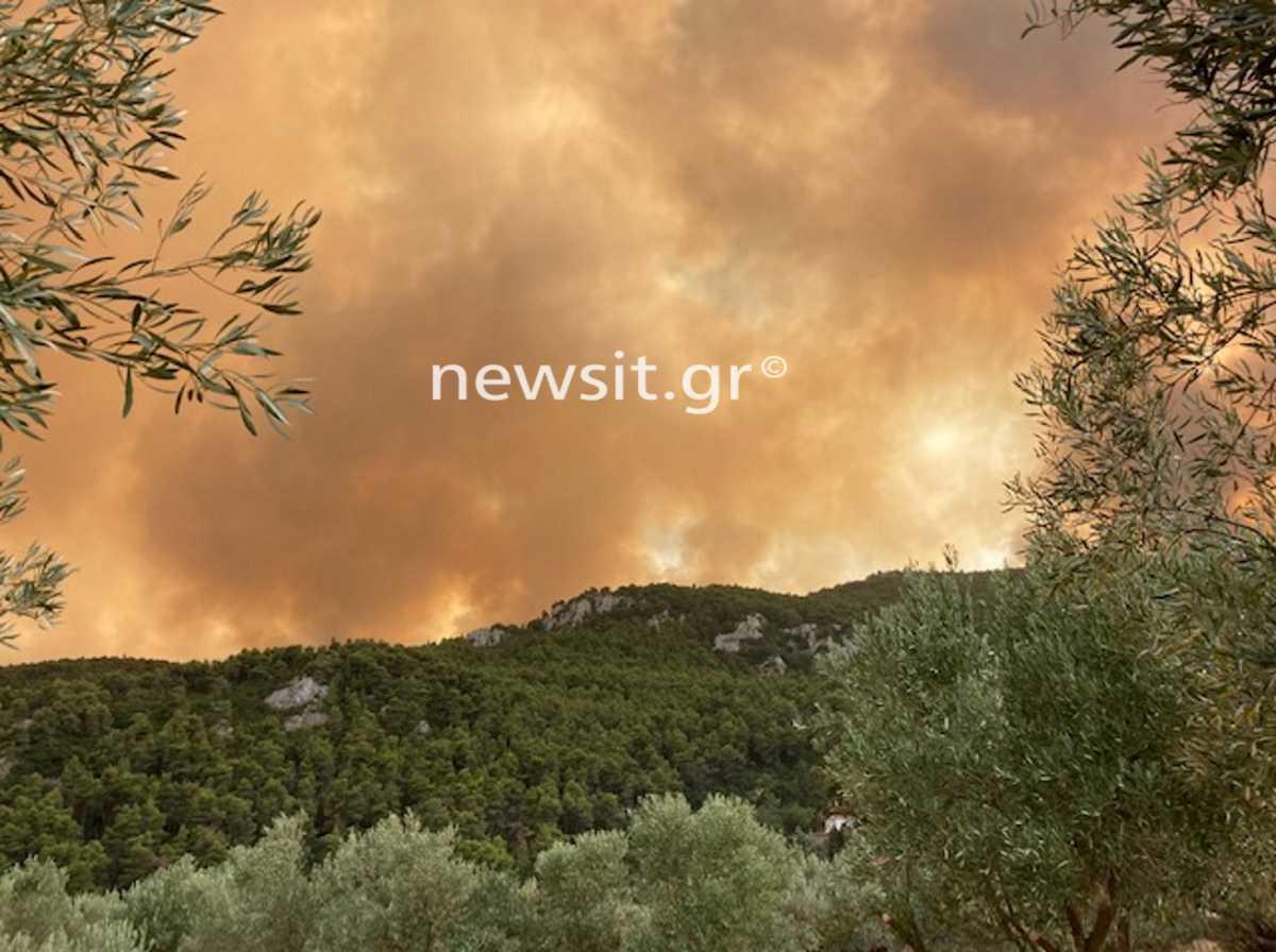 Φωτιά στη Δροσοπηγή: