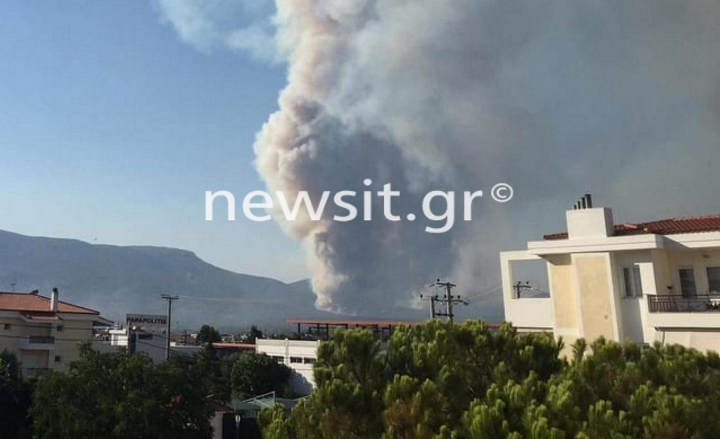 Φωτιά στη Βαρυμπόμπη: «Εκκενώστε τώρα από Θρακομακεδόνες προς Αχαρνές» – Νέο μήνυμα του 112