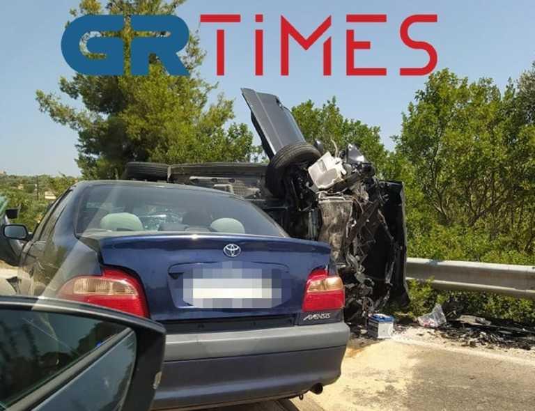Χαλκιδική: Τροχαίο με 5 τραυματίες και μποτιλιάρισμα χιλιομέτρων