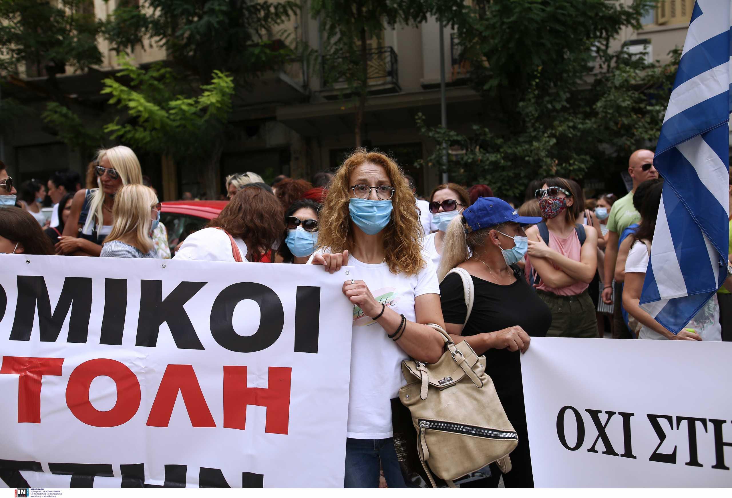 Θεσσαλονίκη: Μεγάλη συγκέντρωση υγειονομικών κατά του υποχρεωτικού εμβολιασμού