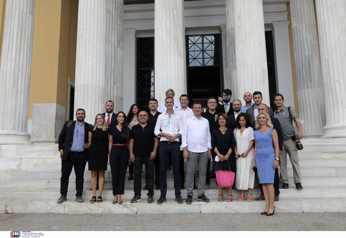 Κώστας Μπακογιάννης: Ξενάγησε τον Ιμάμογλου στα έργα στο Σύνταγμα και τον Εθνικό Κήπο