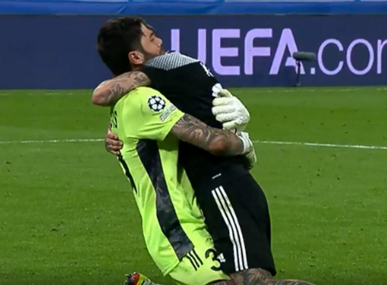 Champions League: Η αγκαλιά Αθανασιάδη-Κολοβού και η αφιέρωση του MVP στη σύντροφό του