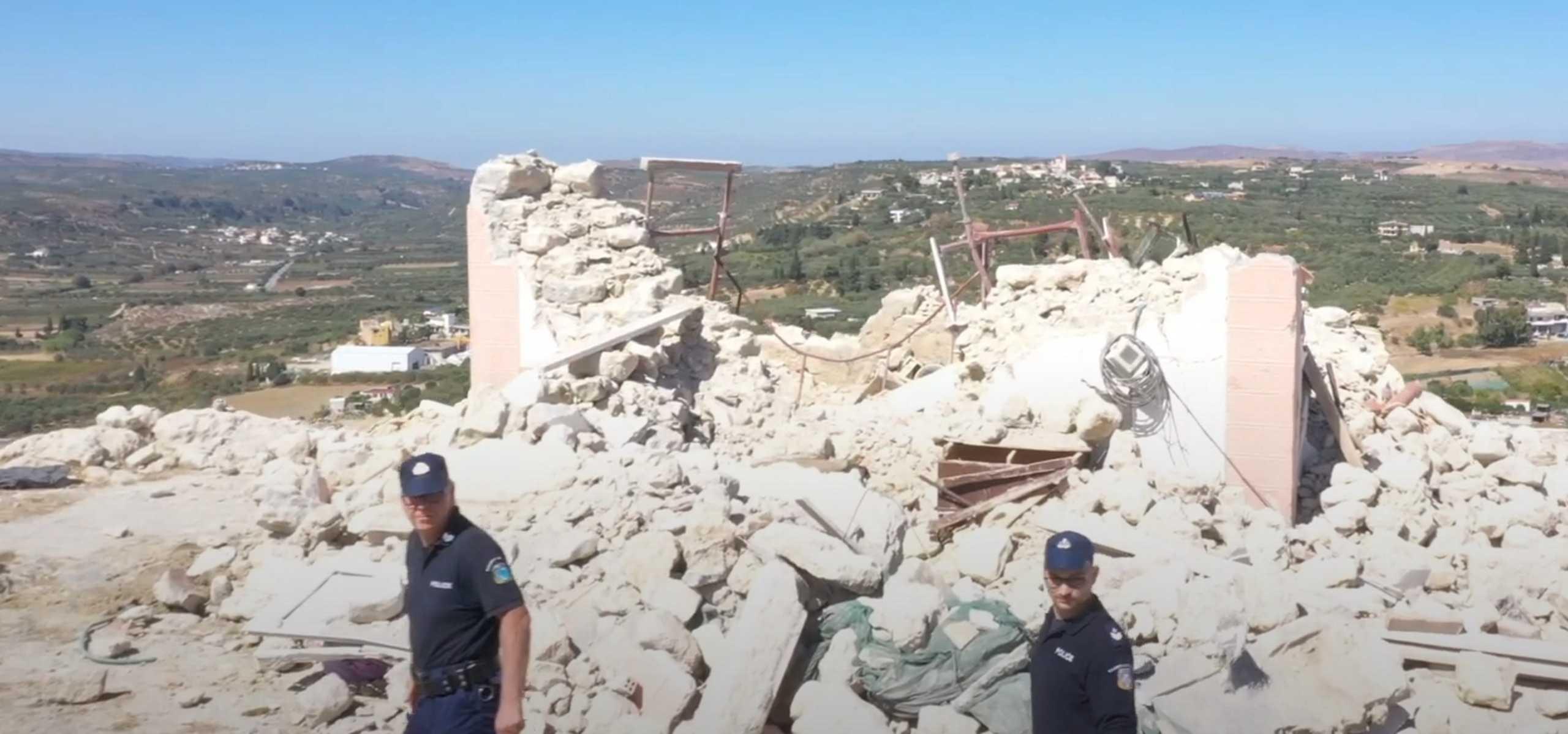 Σεισμός στην Κρήτη – Αρκαλοχώρι: Εικόνες από drone αποκαλύπτουν το μέγεθος της καταστροφής