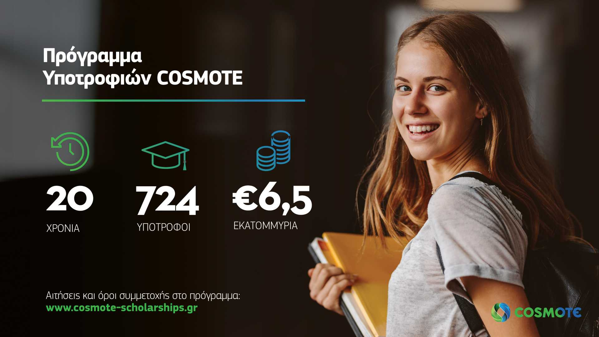 20 χρόνια Υποτροφίες COSMOTE: ένα πρόγραμμα θεσμός συνεχίζει δυναμικά τη συνεισφορά του
