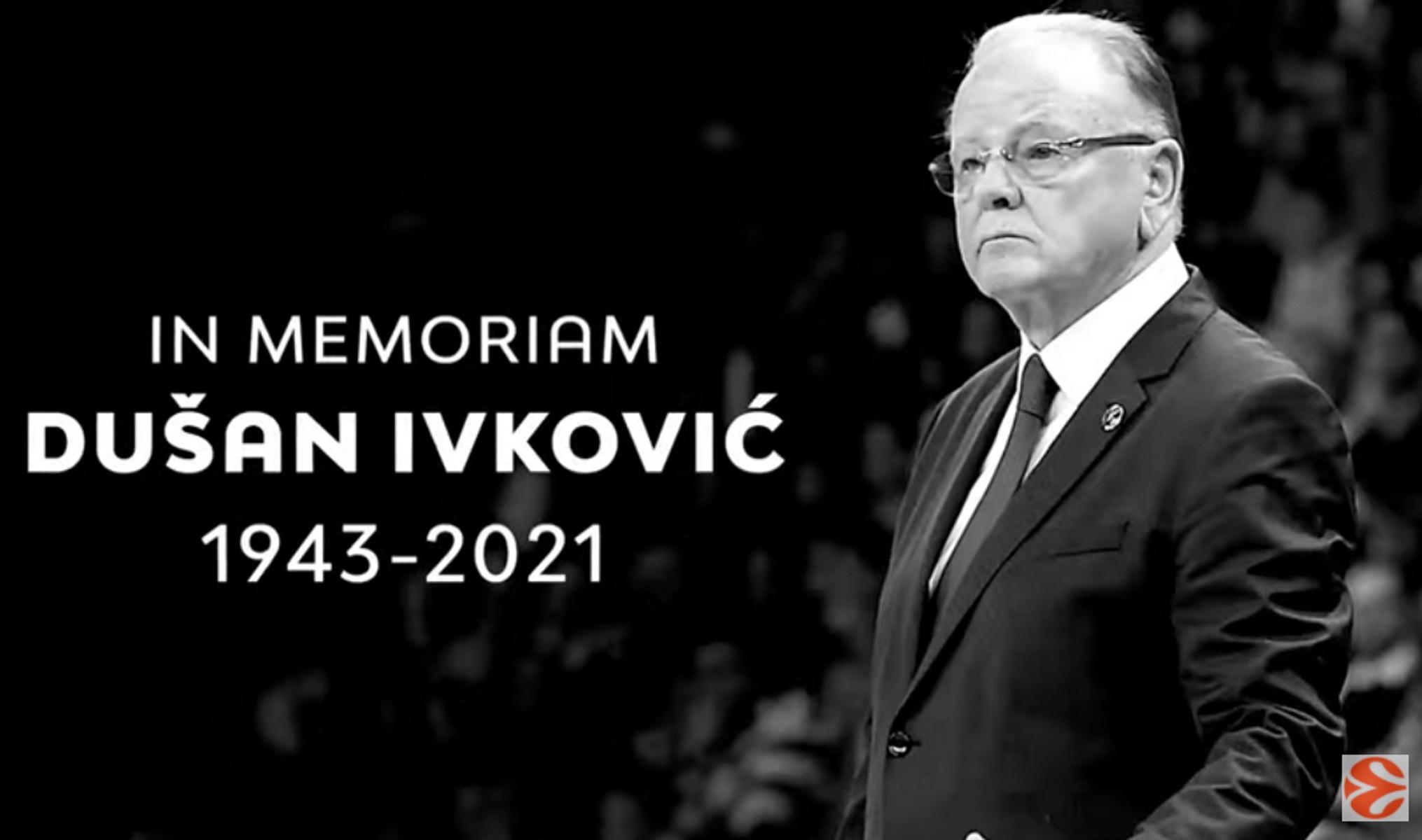 Ντούσαν Ίβκοβιτς: Ενός λεπτού σιγή στην πρεμιέρα της Euroleague