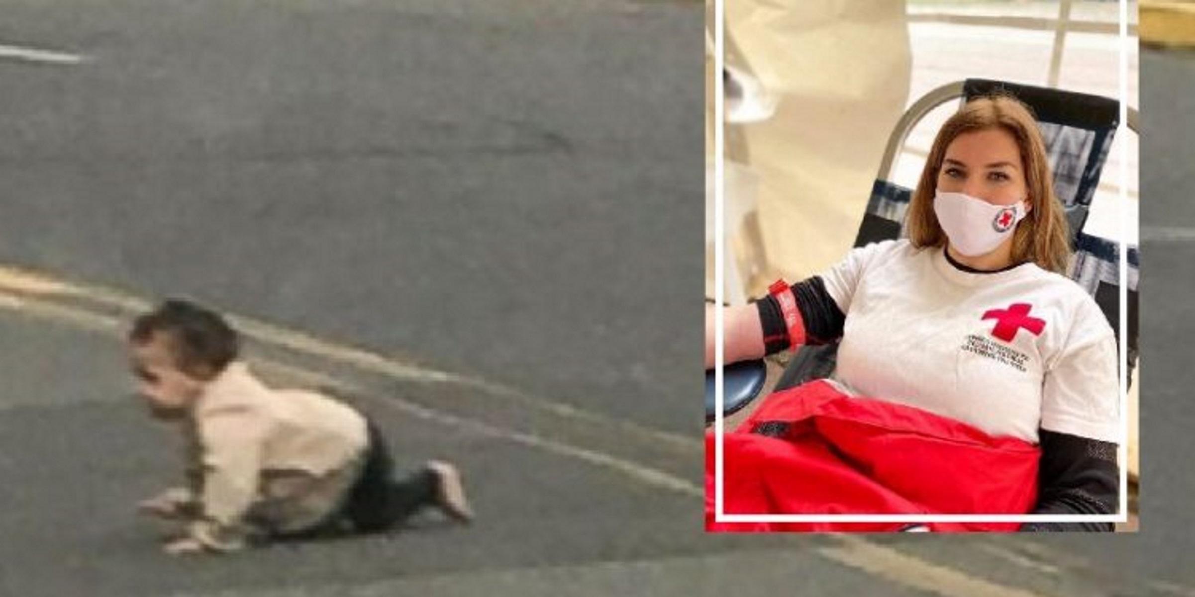 Ελασσόνα: Εθελόντρια του Ερυθρού Σταυρού η γυναίκα που έσωσε το βρέφος που μπουσούλαγε στον δρόμο