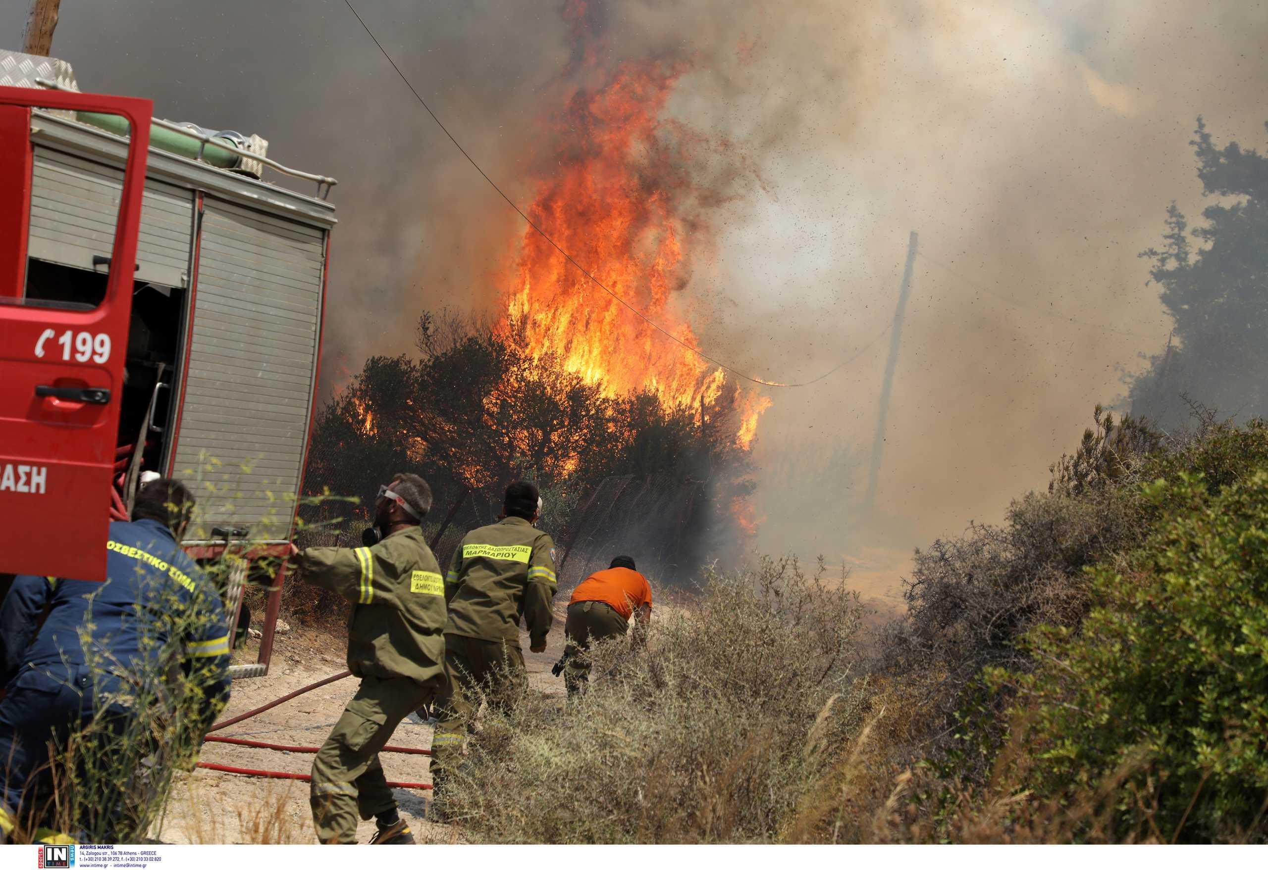 Συναγερμός για φωτιά στην Κρήτη – Στο πόδι η Πυροσβεστική