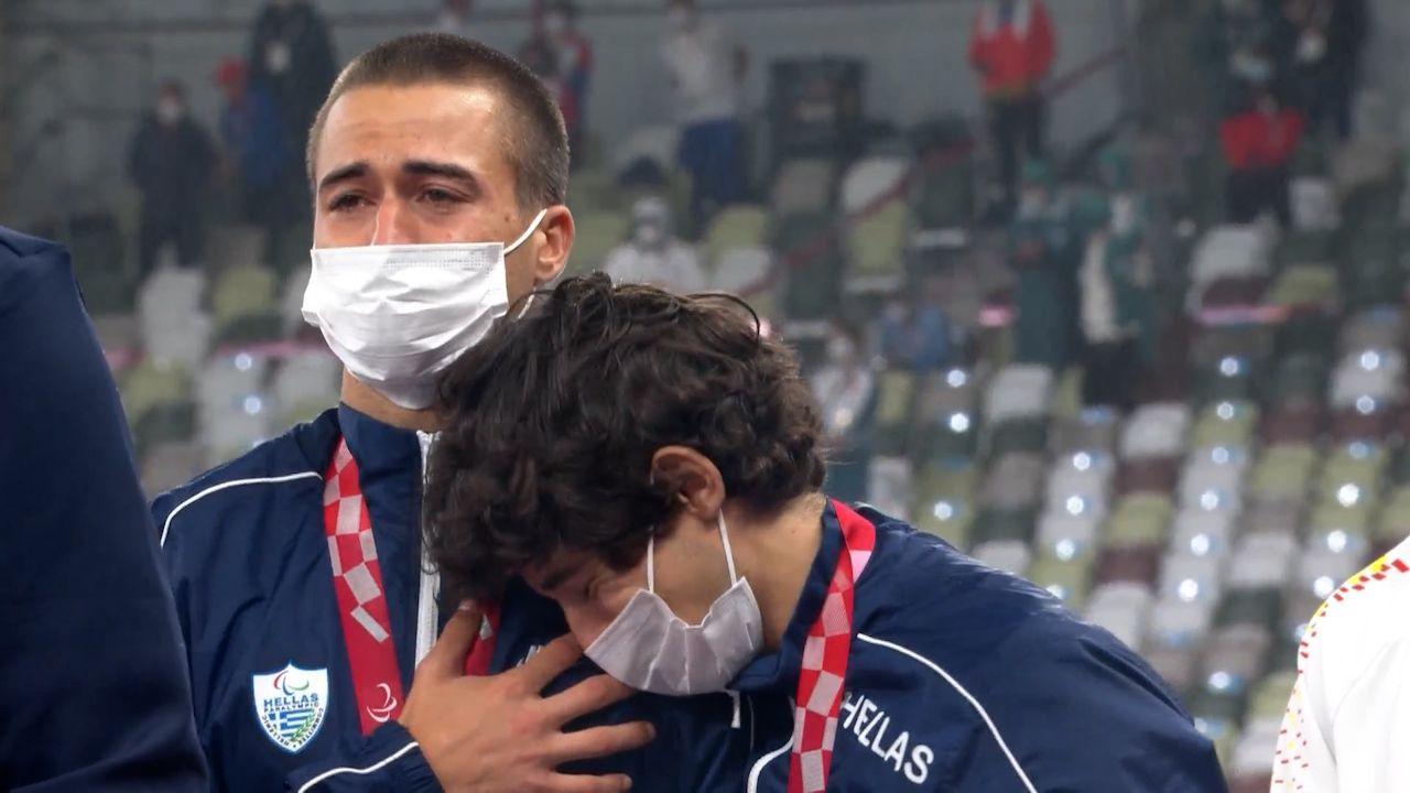 Παραολυμπιακοί Αγώνες: Δακρυσμένοι πάνω στο βάθρο Γκαβέλας και Γκαραγκάνης – Η ανάκρουση του εθνικού ύμνου