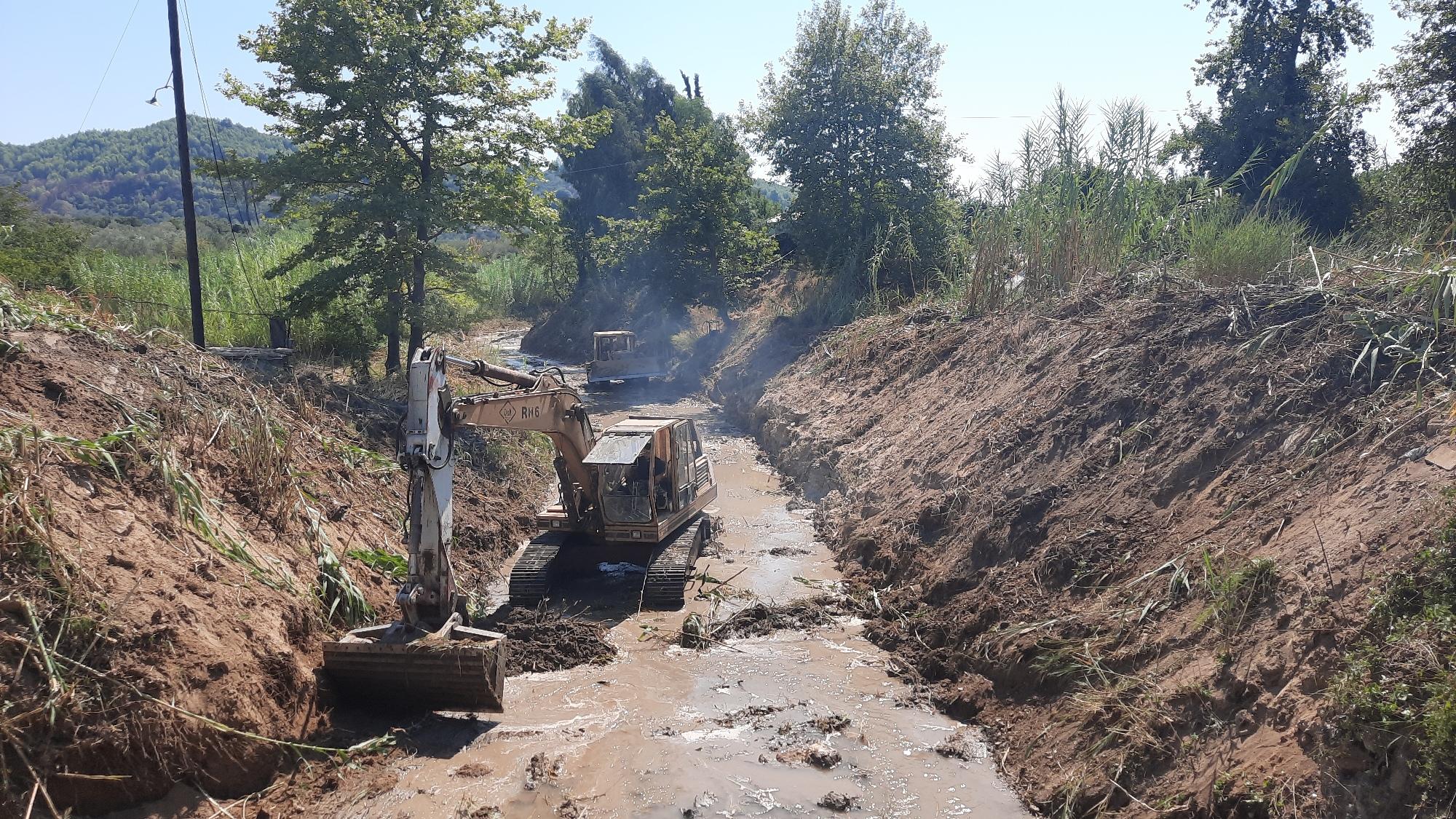 Ηλεία: «Θωρακίζονται» οι πυρόπληκτες περιοχές για να προστατευθούν από ενδεχόμενα πλημμυρικά φαινόμενα