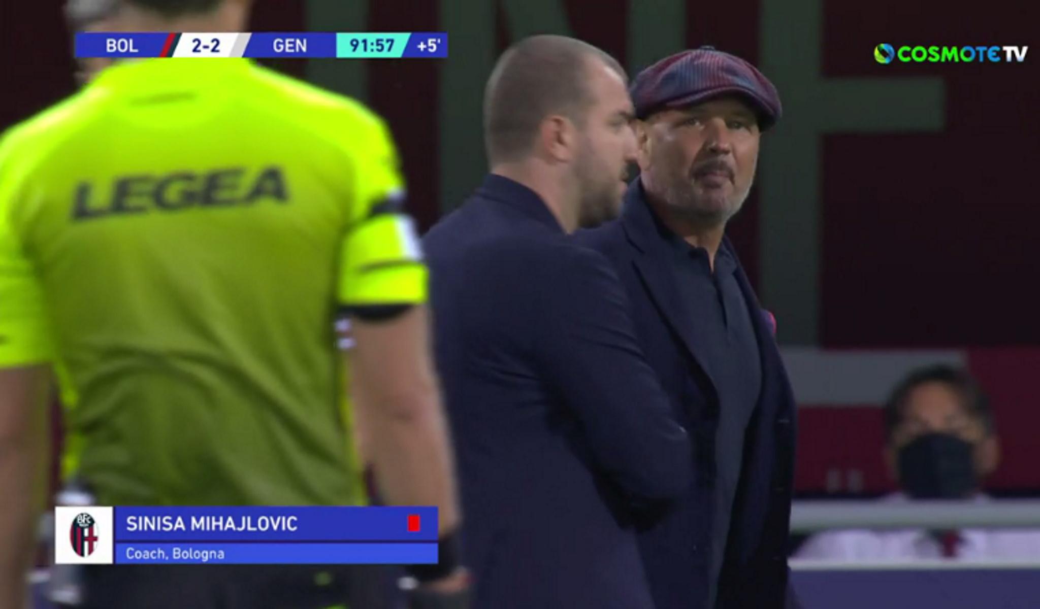 Μπολόνια – Τζένοα 2-2: Ματσάρα με δυο πέναλτι, αποβολή για Μιχαΐλοβιτς και «γαλλικά» στον διαιτητή