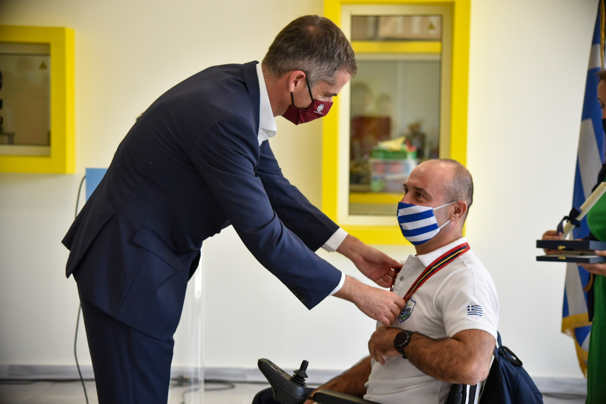 Ο Κώστας Μπακογιάννης τίμησε την Παραολυμπιακή Ομάδα