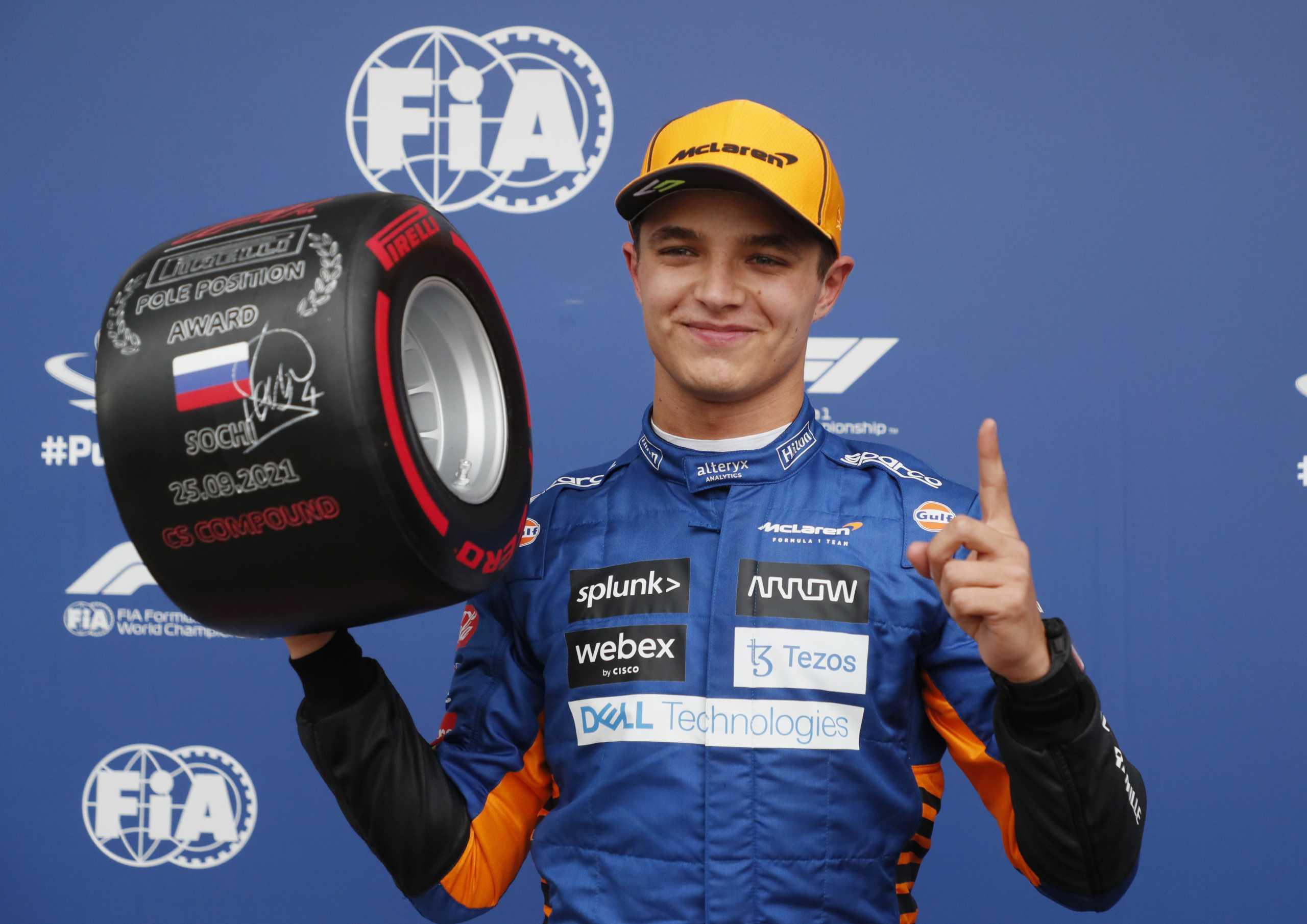 Formula 1: Ιστορική pole position για Λάντο Νόρις στο βροχερό Σότσι