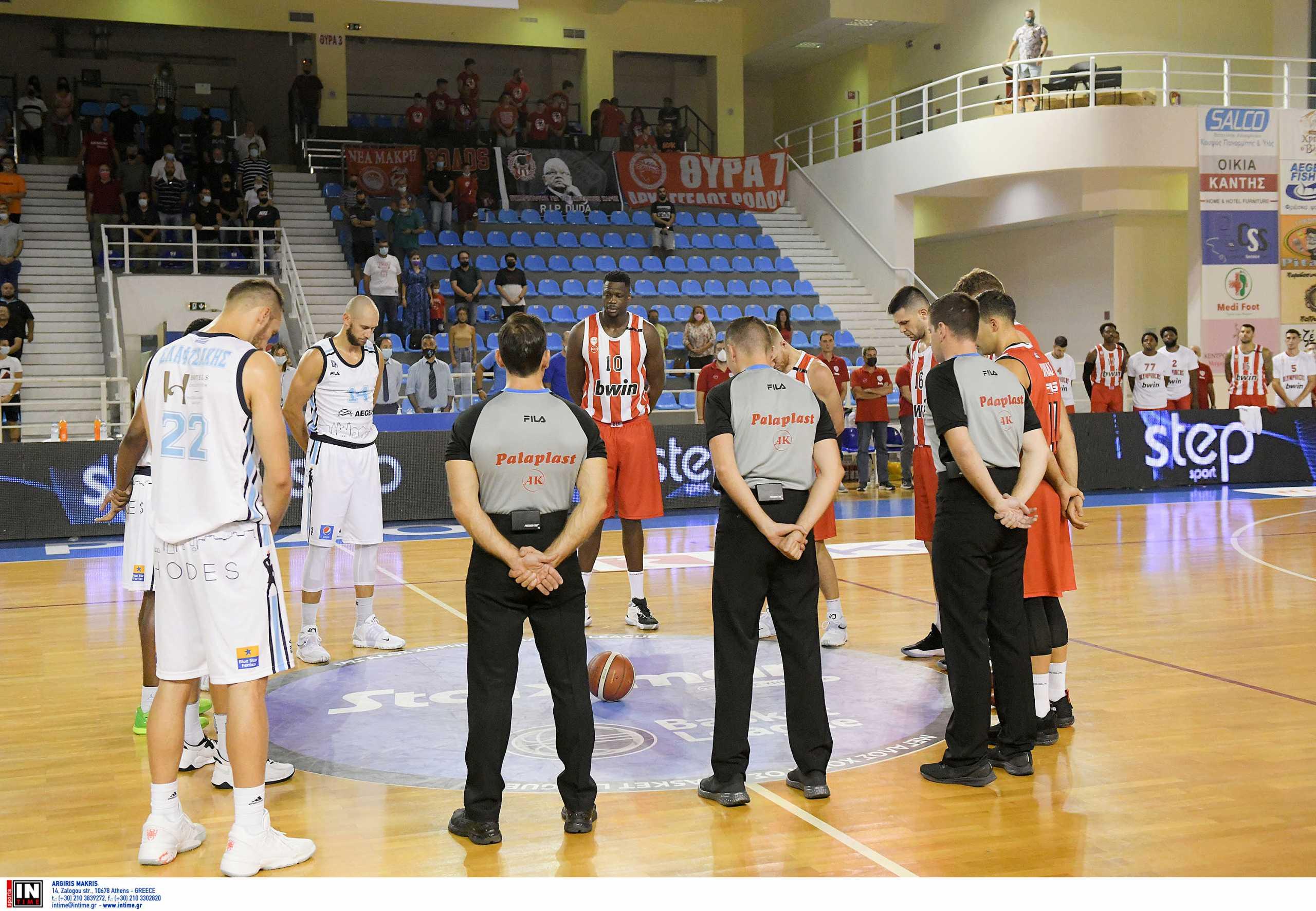 Ντούσαν Ίβκοβιτς: Ενός λεπτού σιγή και πένθος στις φανέλες στο Κολοσσός Ρόδου – Ολυμπιακός