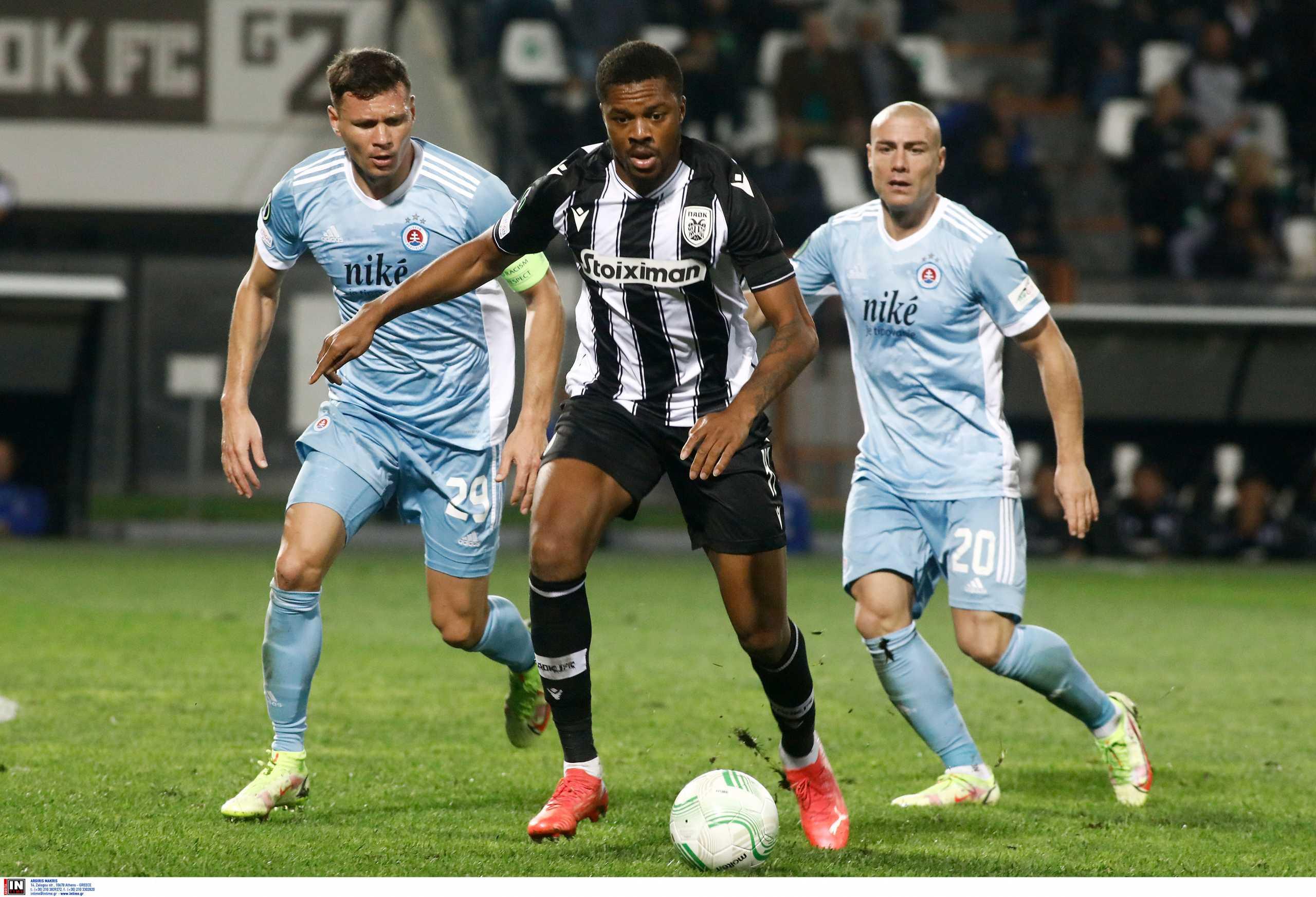 Conference League, ΠΑΟΚ – Σλόβαν Μπρατισλάβας 1-1: Δεν τα κατάφερε μέσα στην Τούμπα