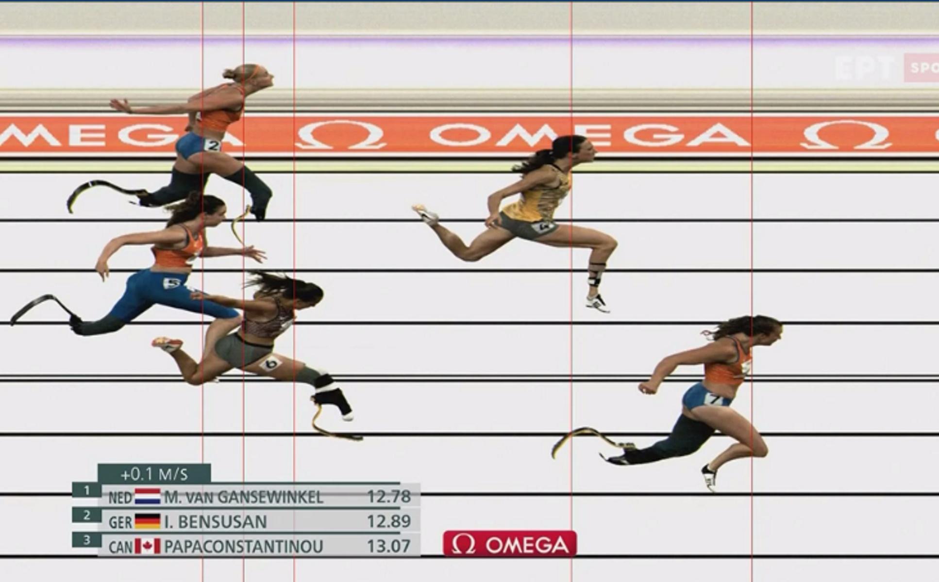 Παραολυμπιακοί Αγώνες: Στο βάθρο η Ελληνοκαναδή Παπακωνσταντίνου στα 100μ T64