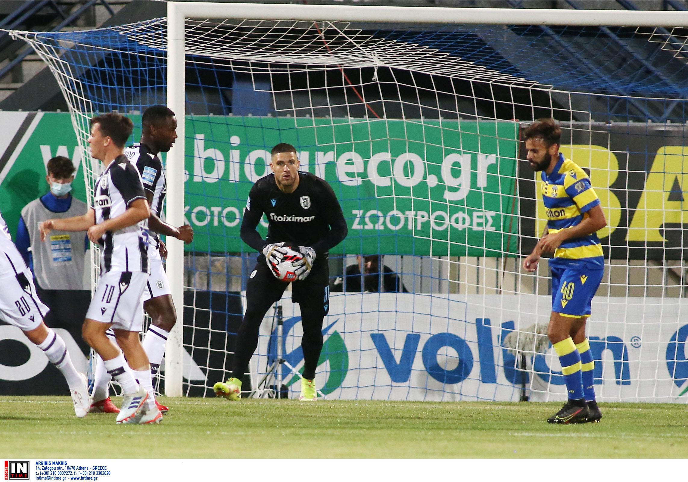 Superleague 1, Αστέρας Τρίπολης – ΠΑΟΚ 0-1: «Διπλό» με Πασχαλάκη και ζόρι
