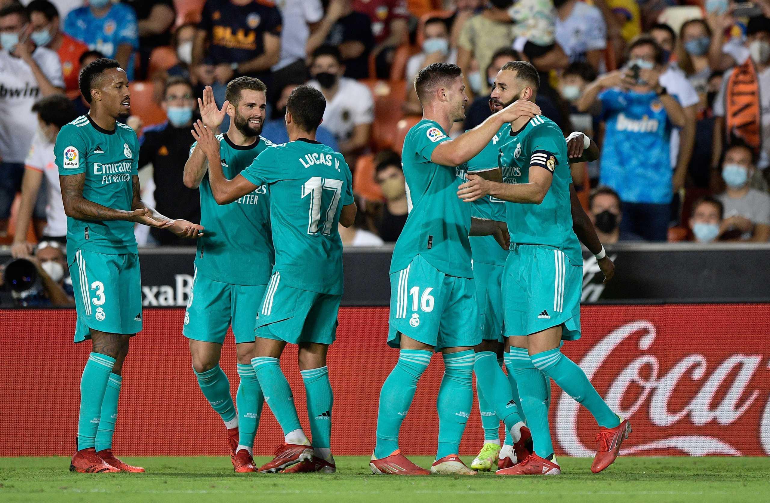 Βαλένθια – Ρεάλ Μαδρίτης 1-2: Διπλό με φοβερή ανατροπή για τη «Βασίλισσα»