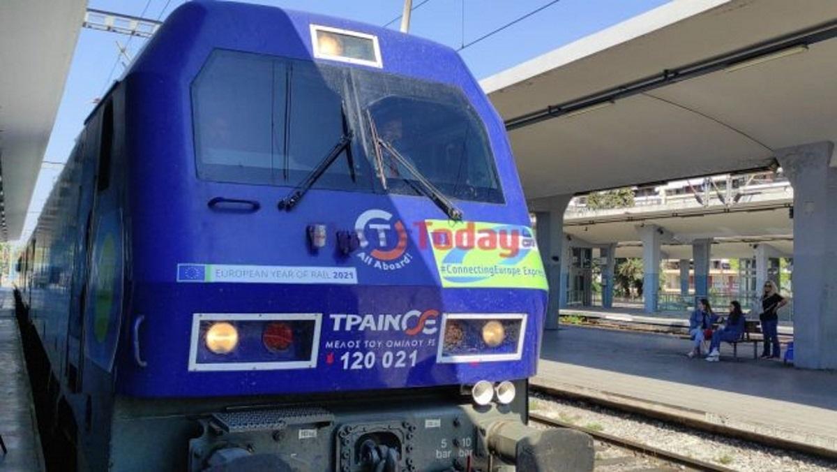 Το τρένο που ενώνει την Ευρώπη έφτασε στη Θεσσαλονίκη