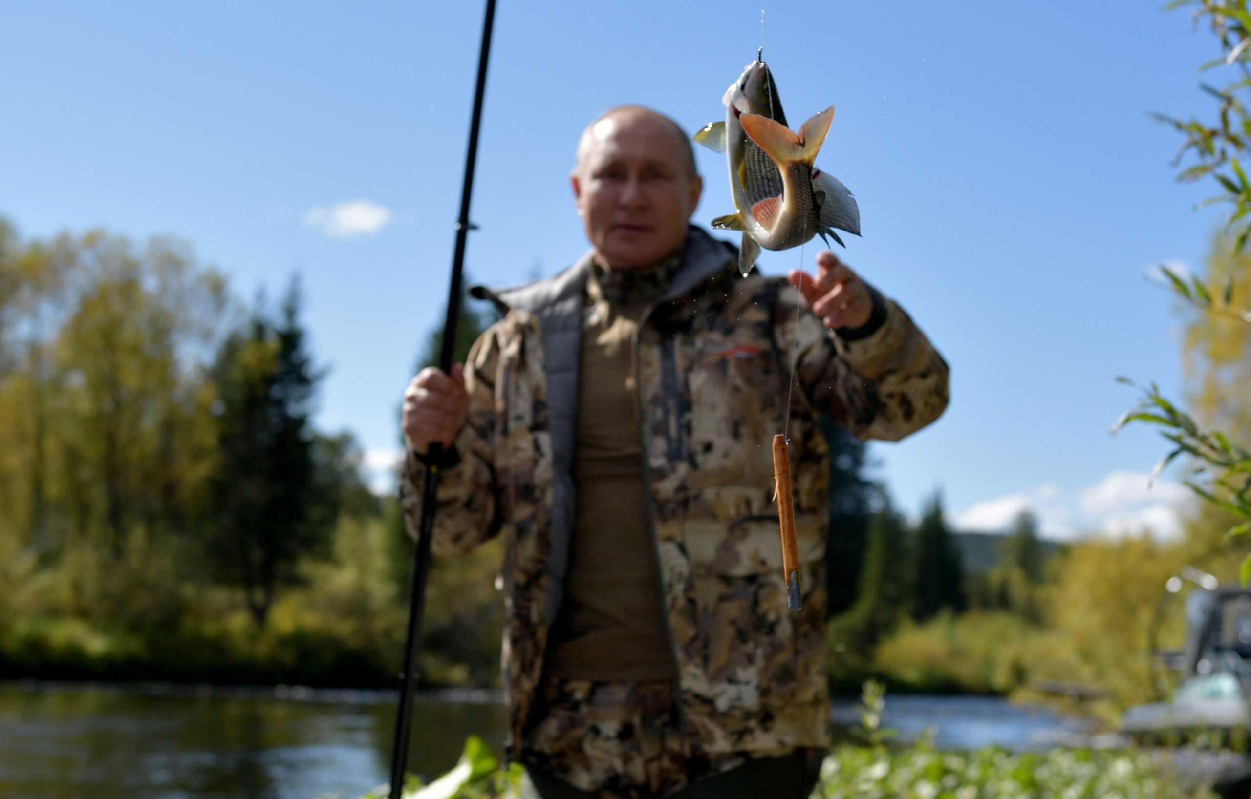 Βλαντιμίρ Πούτιν: Στη Σιβηρία για ψάρεμα ο πρόεδρος της Ρωσίας