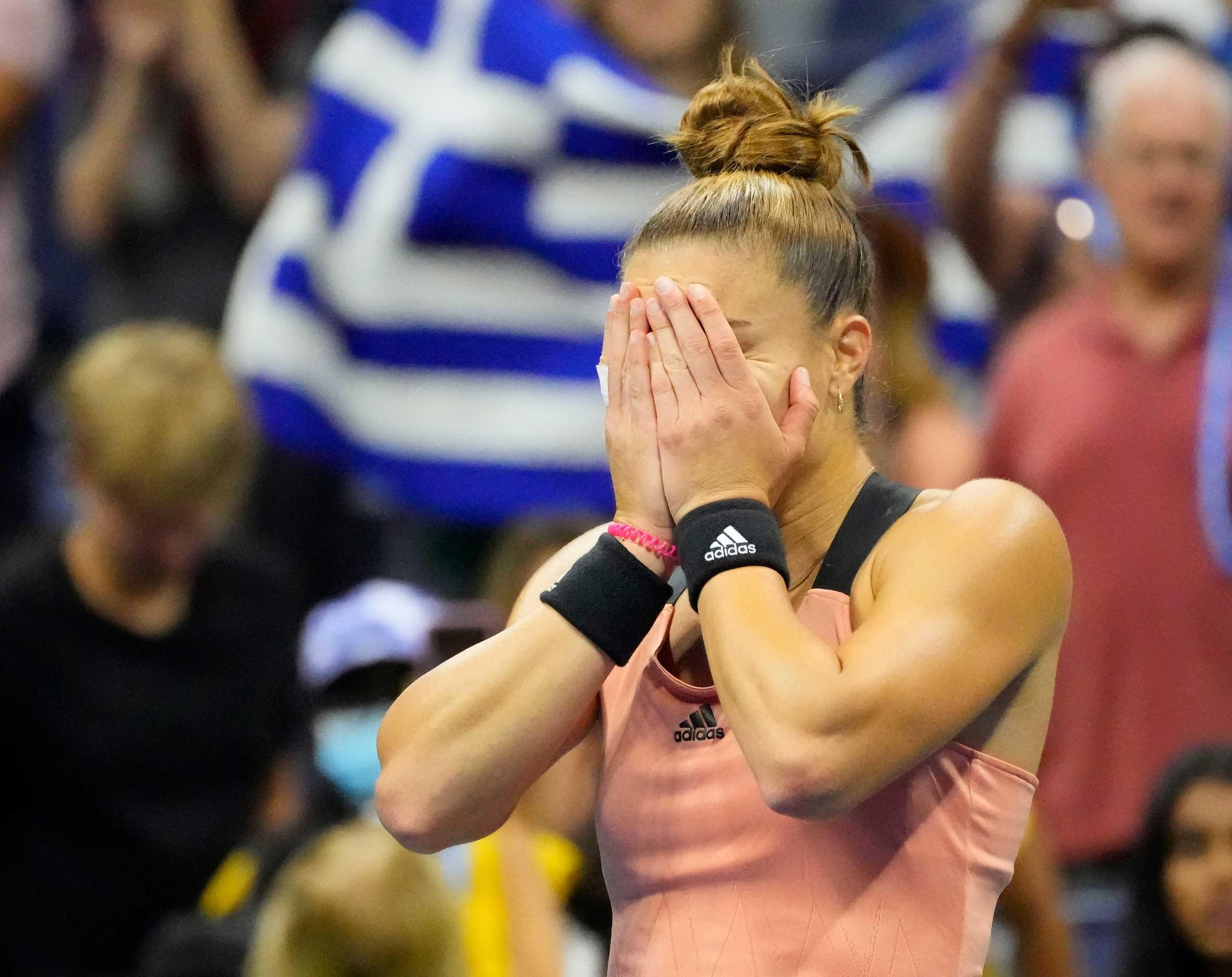 Μαρία Σάκκαρη: Δάκρυα χαράς μετά την ιστορική πρόκριση στα προημιτελικά του US Open