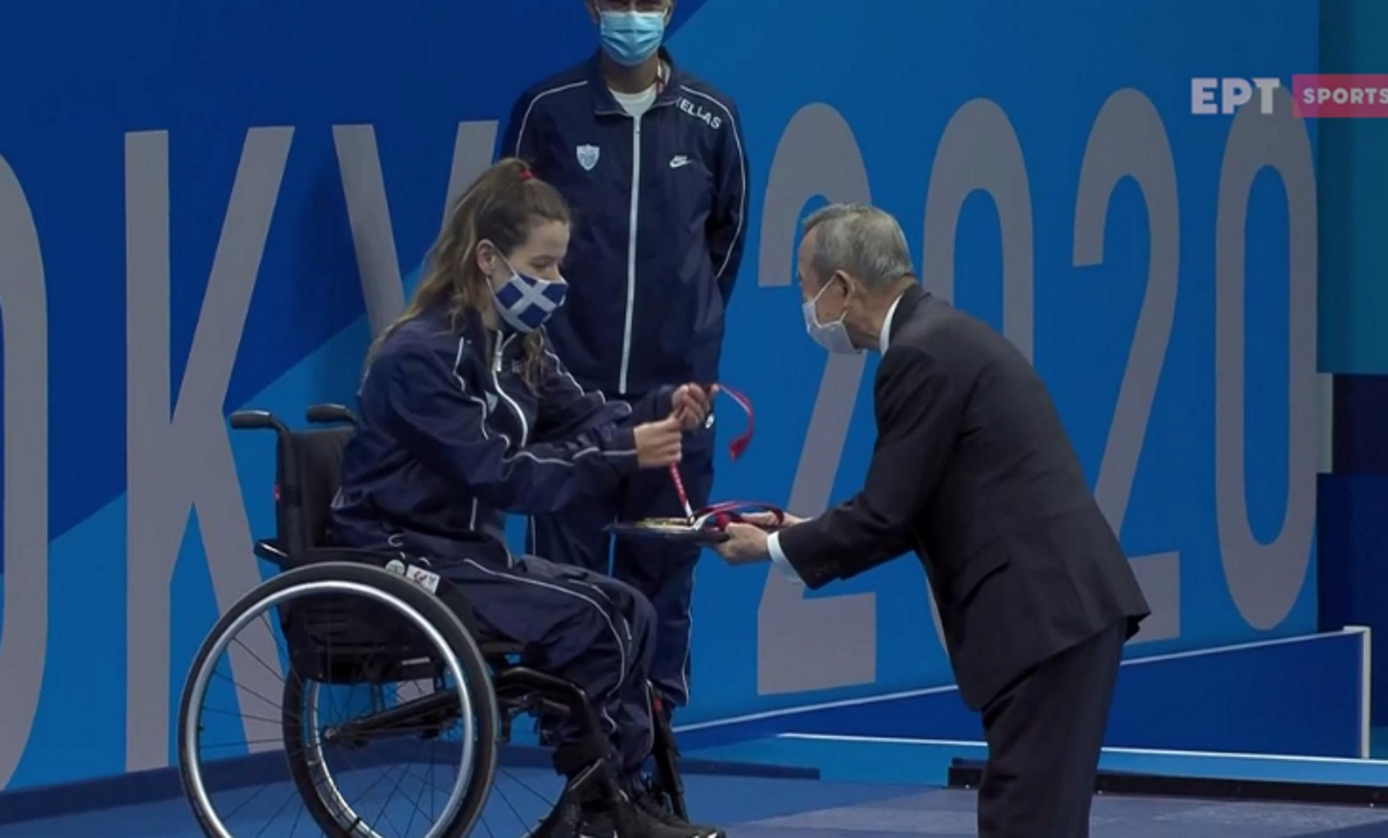 Παραολυμπιακοί Αγώνες: Η απονομή της «χάλκινης» Σταματοπούλου