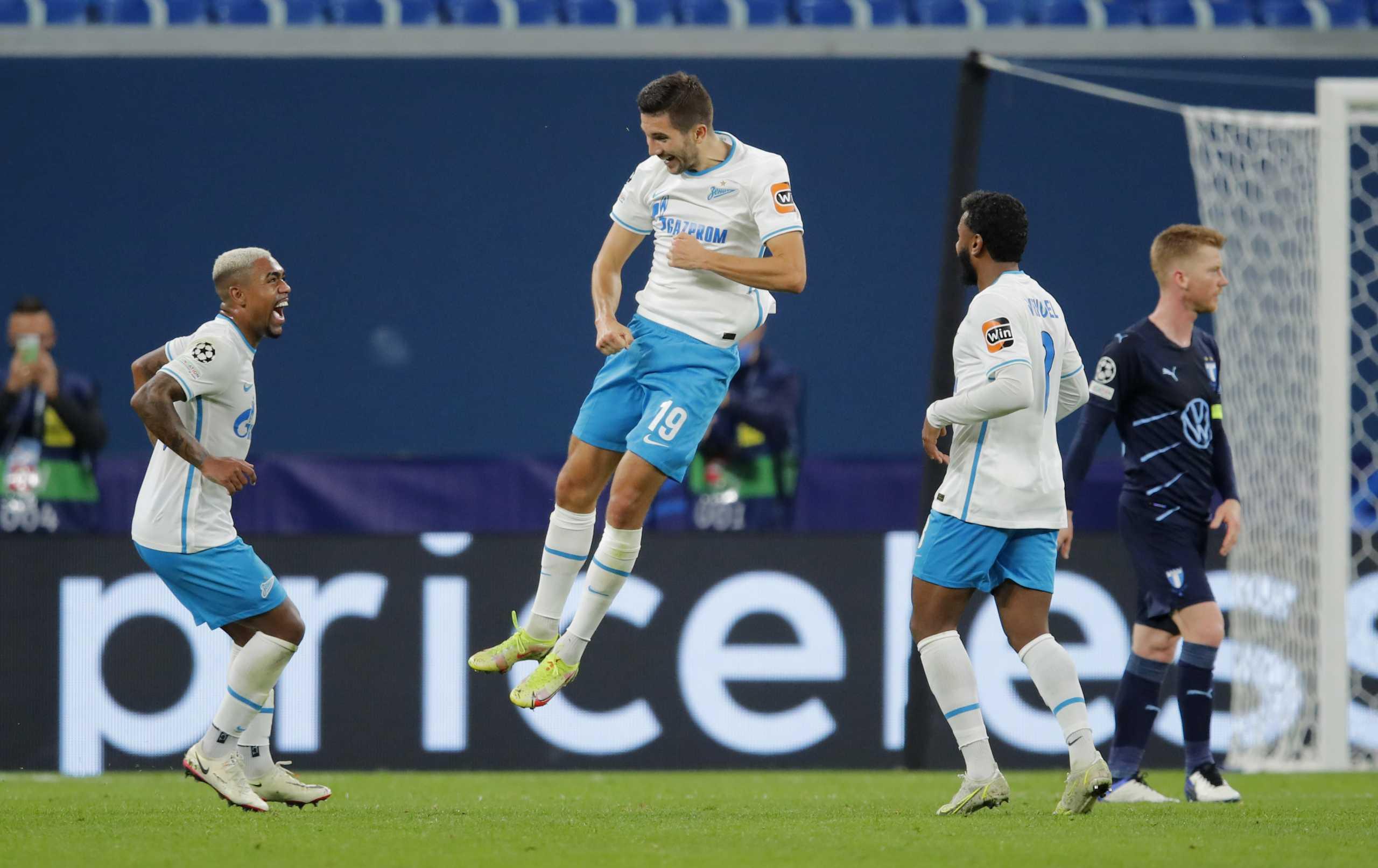Champions League, Ζενίτ – Μάλμε 4-0 και Αταλάντα – Γιουνγκ Μπόις 1-0: «Μίλησαν» οι έδρες