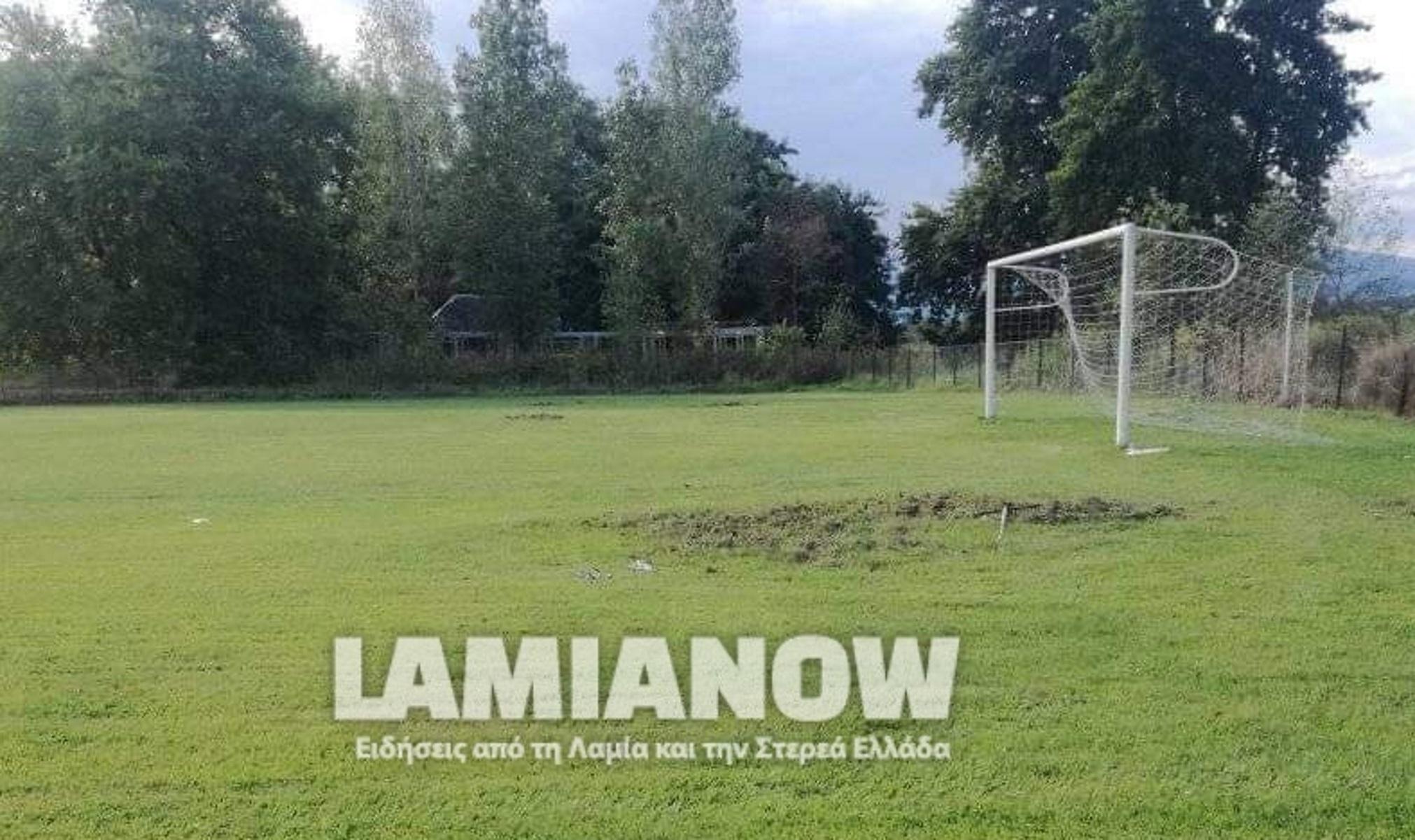 Φθιώτιδα: Αγριογούρουνα όργωσαν ποδοσφαιρικό γήπεδο – Δείτε φωτογραφίες