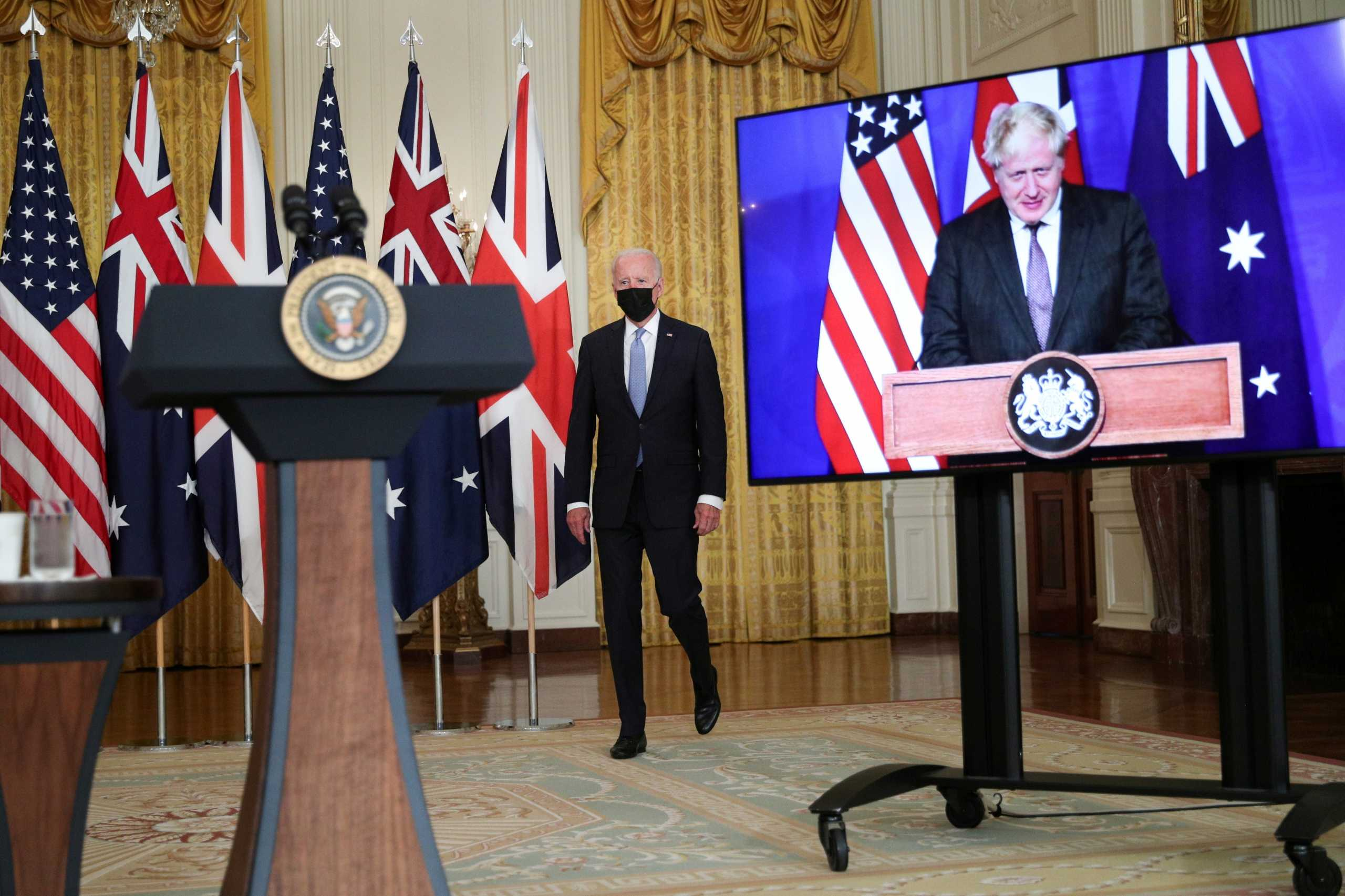 AUKUS: ΗΠΑ, Αυστραλία και Βρετανία είχαν συμφωνήσει τις λεπτομέρειες στην G7 πίσω από την πλάτη του Μακρόν