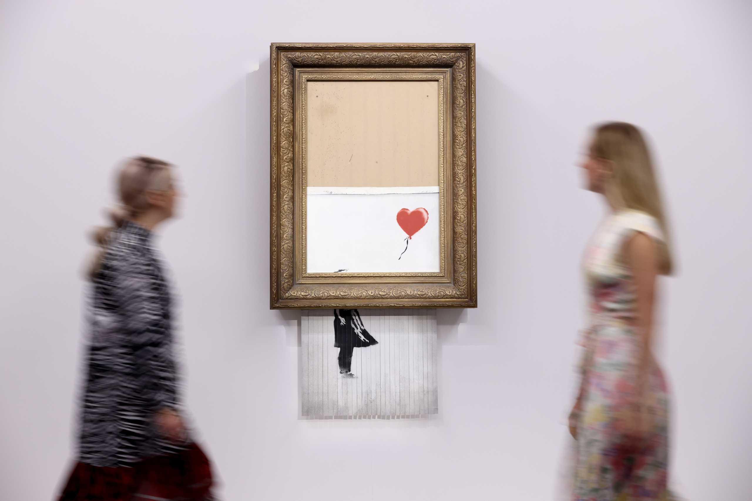 Βρετανία: Μισοκατεστραμμένο έργο του Banksy δημοπρατείται σε εξαπλάσια τιμή