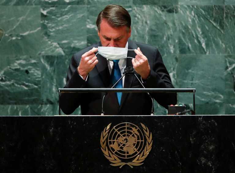 Κορονοϊός: Ο ανεμβολίαστος Μπολσονάρου με «αναδίπλωση» στον ΟΗΕ για τα εμβόλια