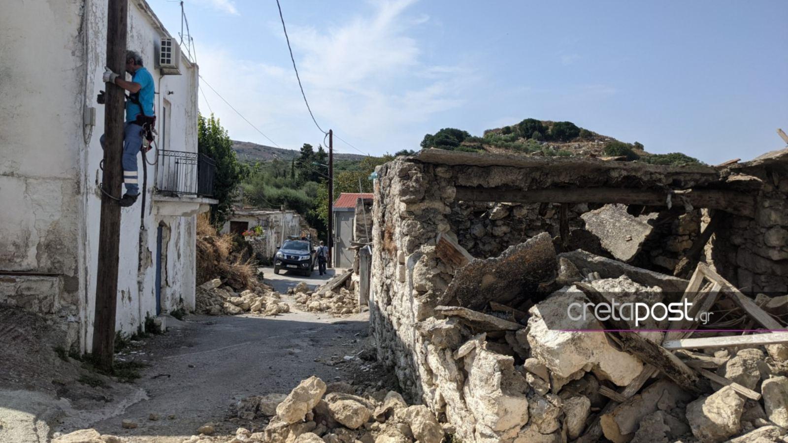 Σεισμός στην Κρήτη: Αγώνας δρόμου για την αποκατάσταση της ηλεκτροδότησης στις πληγείσες περιοχές